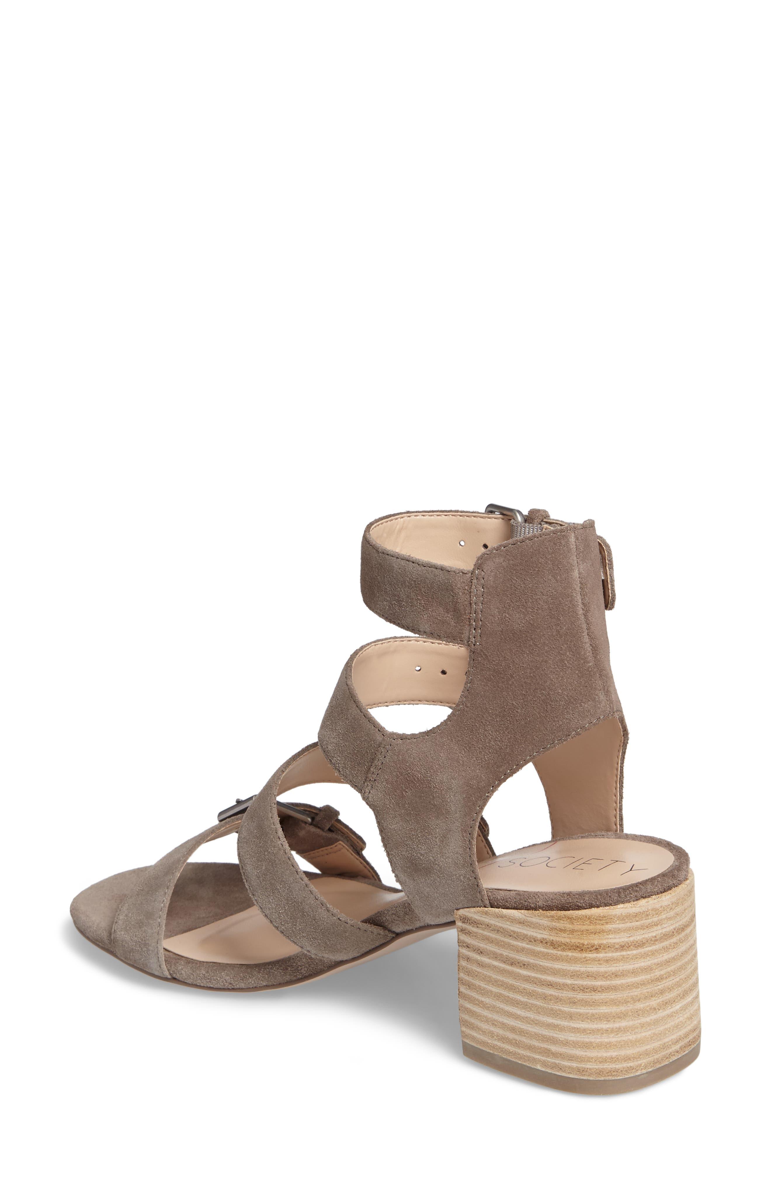Culver Block Heel Sandal,                             Alternate thumbnail 2, color,                             MUSHROOM SUEDE