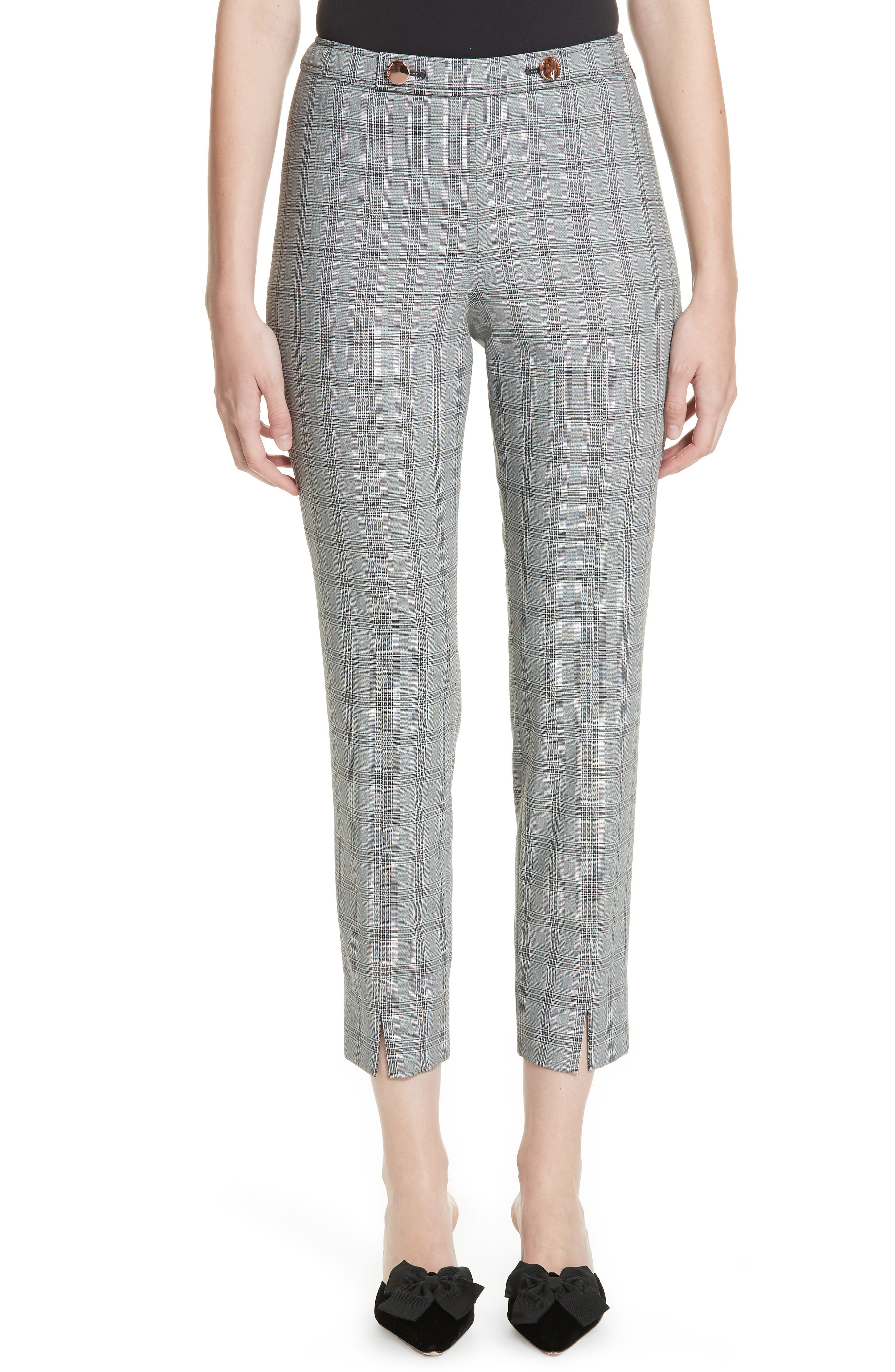 Ted Working Title Ristat Check Plaid Trousers,                             Main thumbnail 1, color,                             030