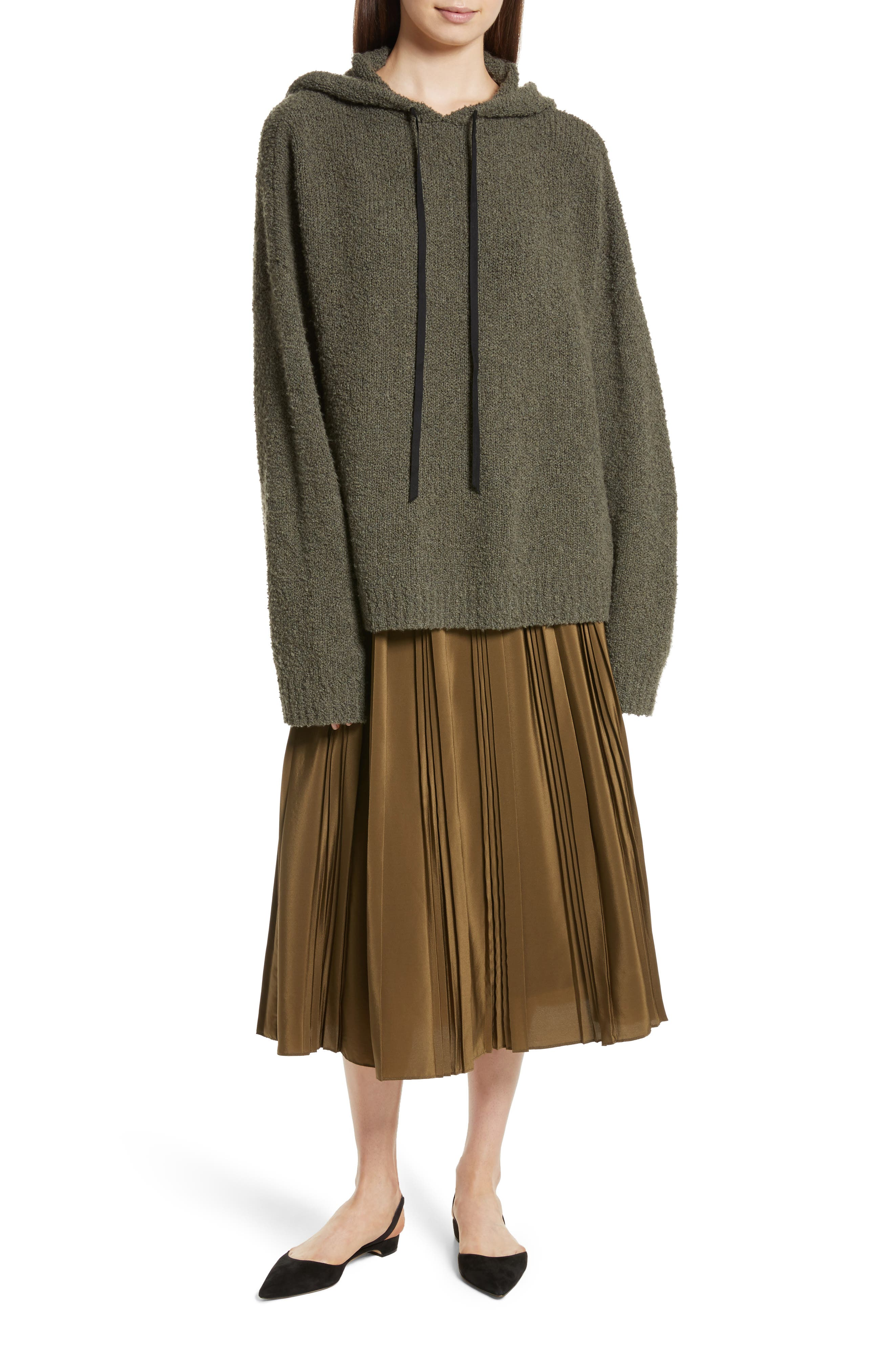Merino Wool & Cashmere Reversible Hooded Sweater,                             Alternate thumbnail 7, color,                             300