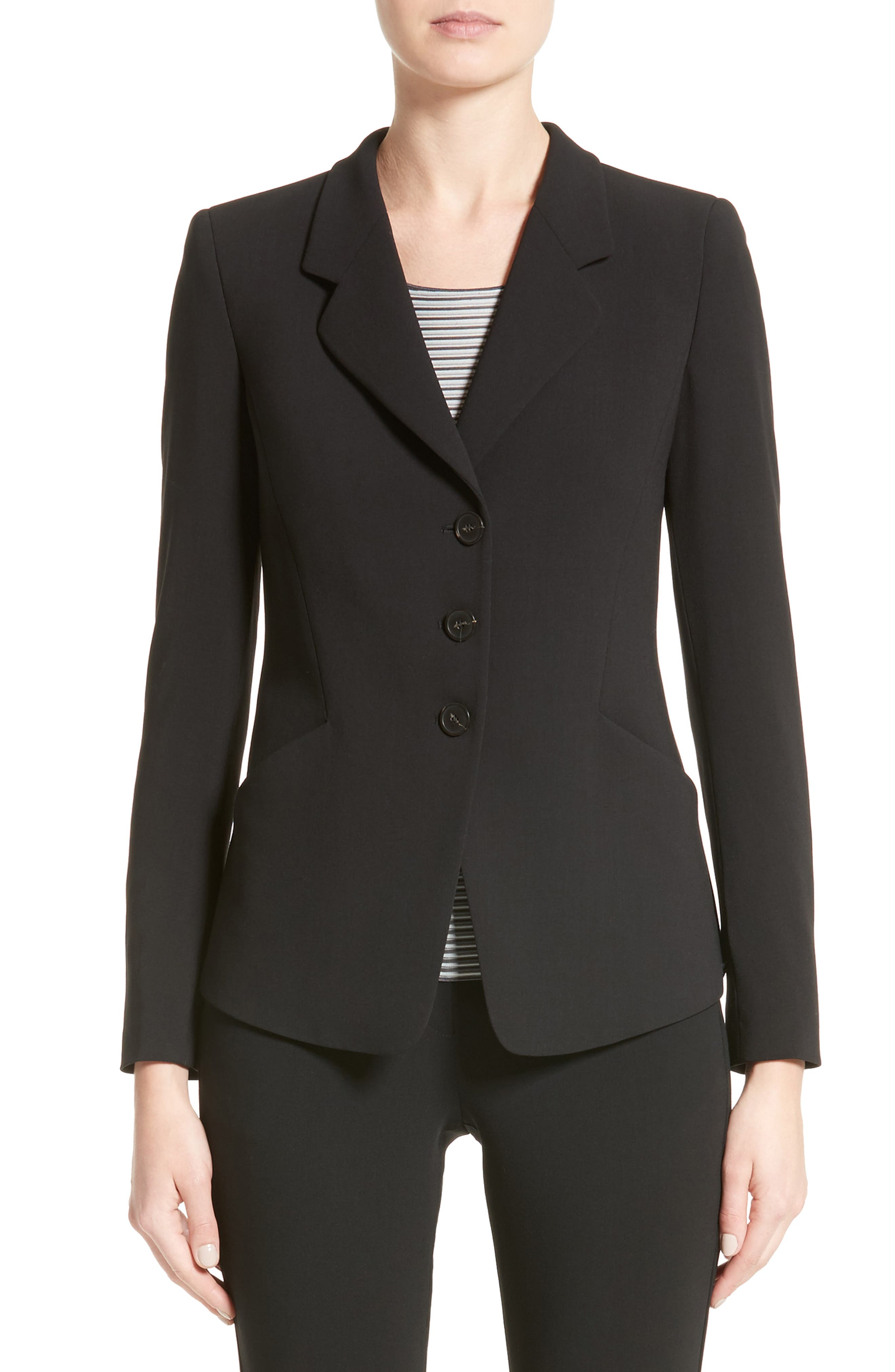 Stretch Wool Jacket,                         Main,                         color, 004