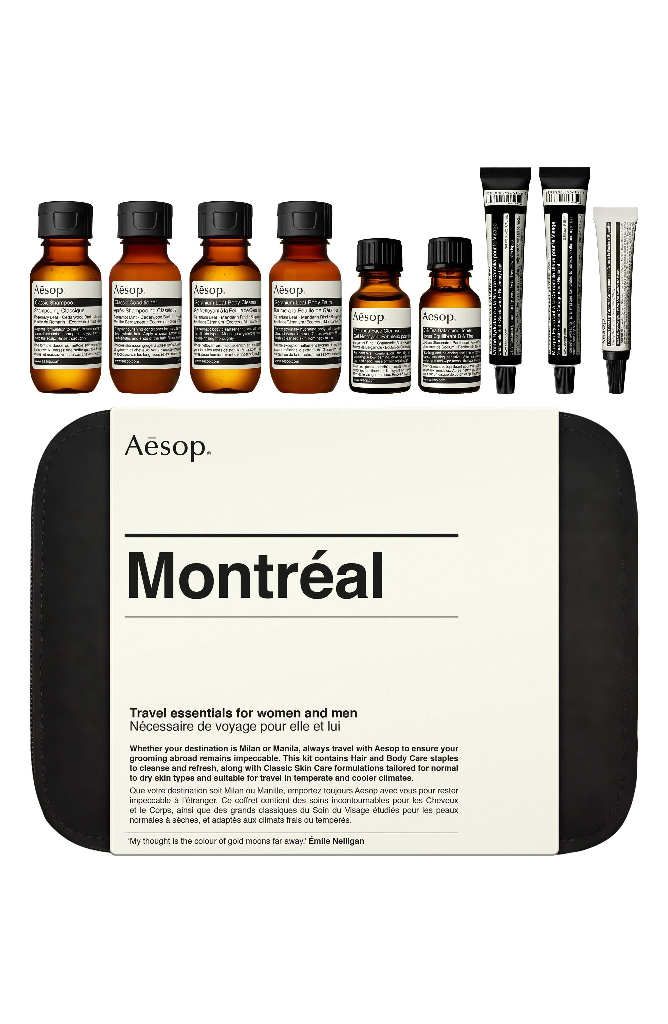AESOP,                             Montréal City Kit,                             Main thumbnail 1, color,                             NO COLOR