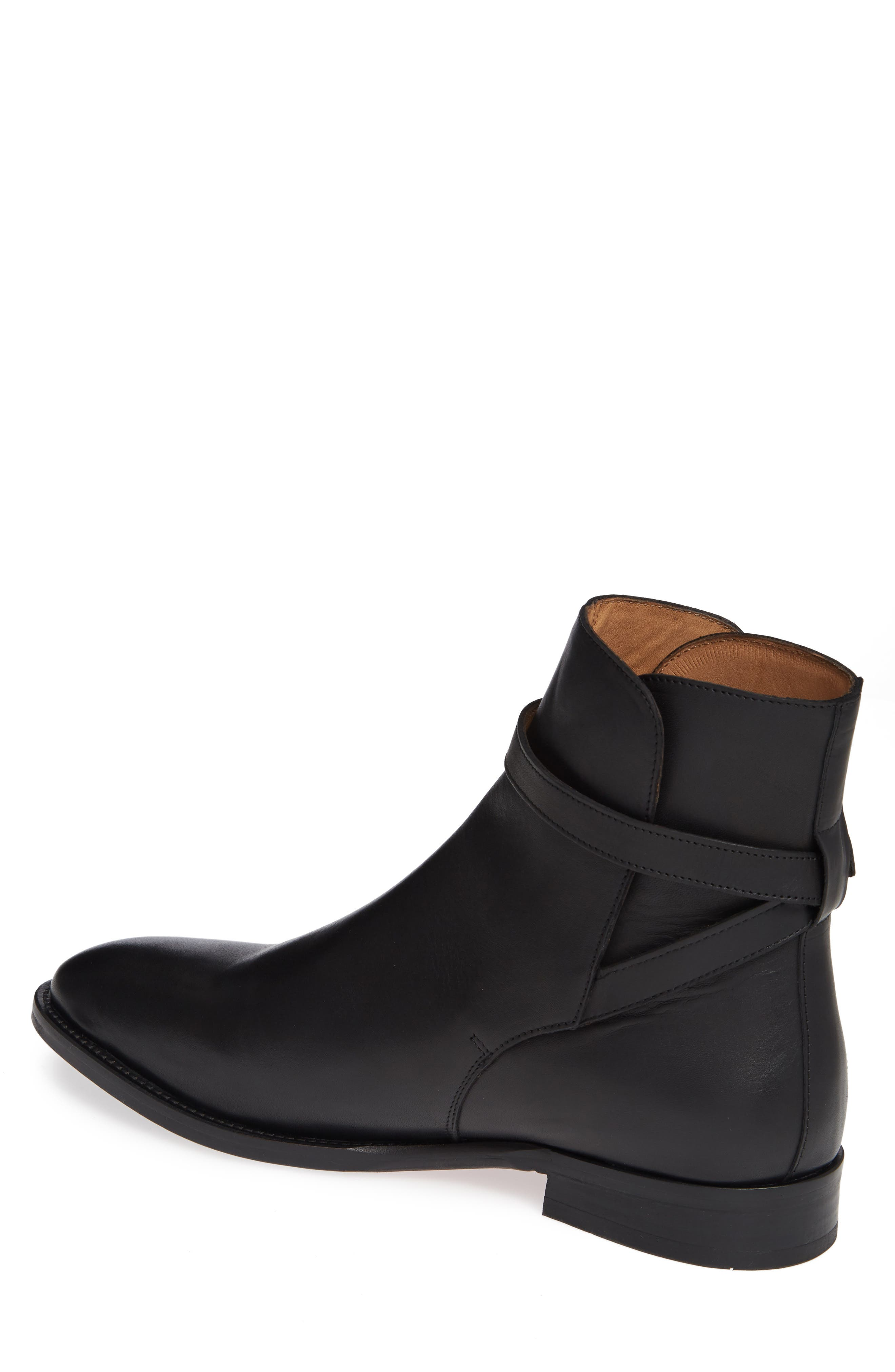 Hop Buckle Strap Boot,                             Alternate thumbnail 2, color,                             BLACK LEATHER