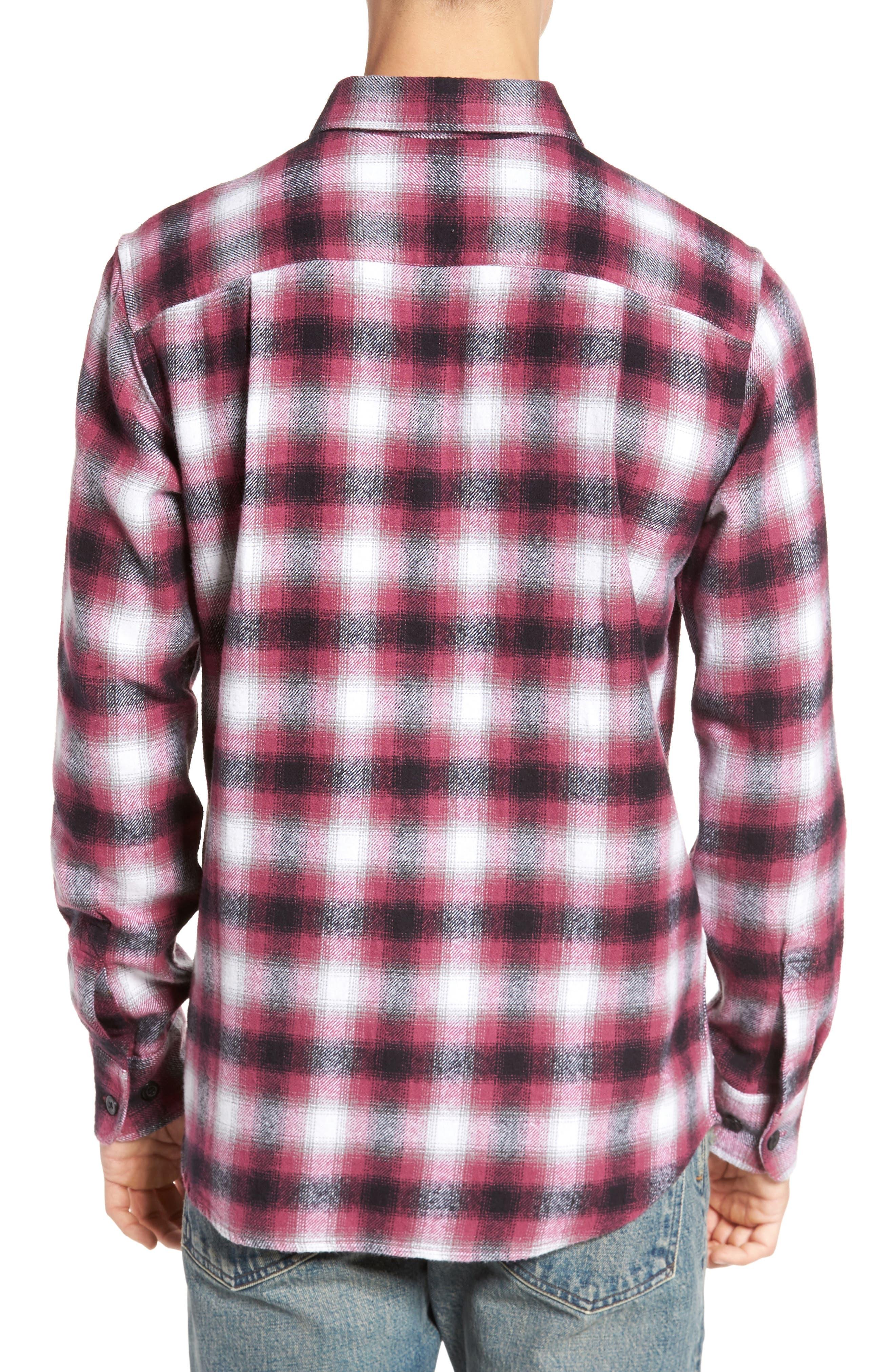 Mission Plaid Flannel Sport Shirt,                             Alternate thumbnail 2, color,