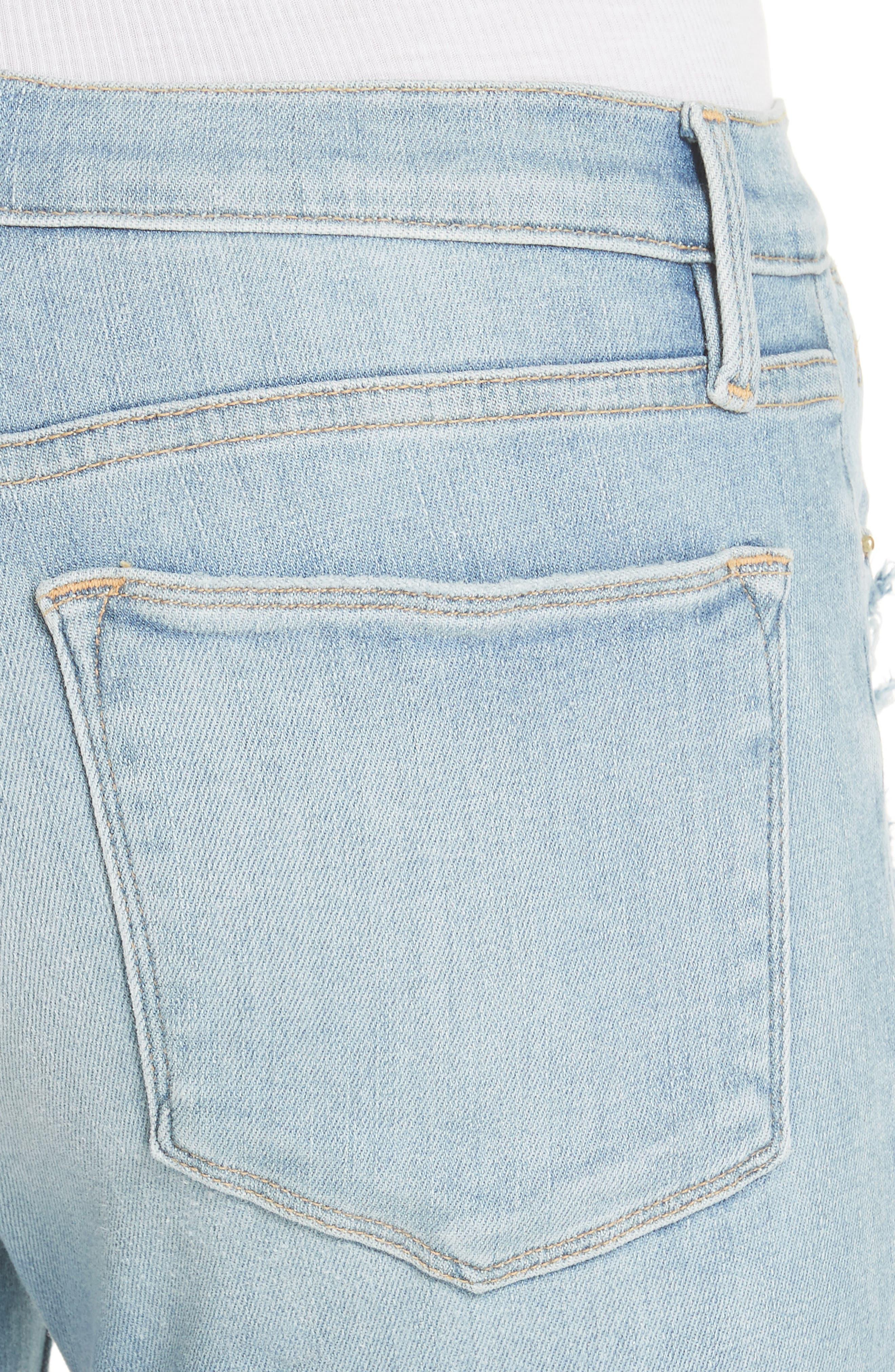 Le High Skinny Jeans,                             Alternate thumbnail 4, color,                             450