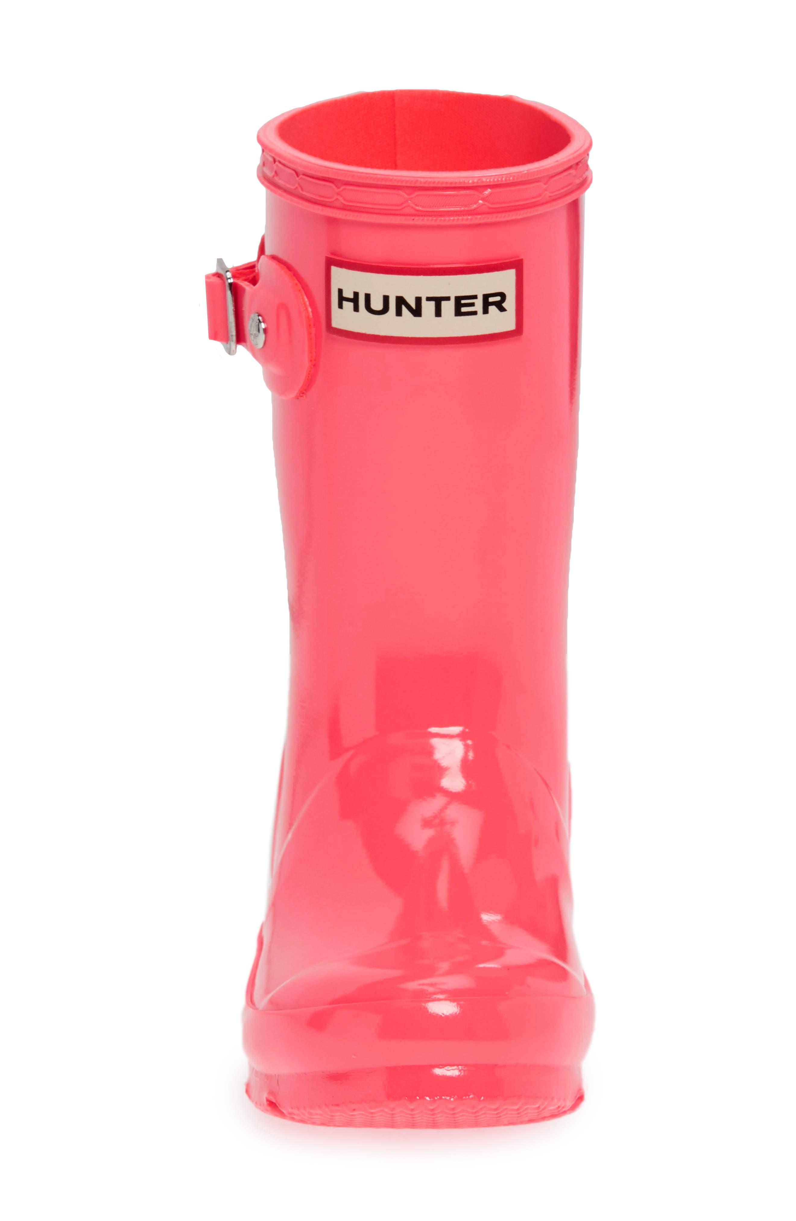 Original Gloss Rain Boot,                             Alternate thumbnail 4, color,                             HYPER PINK