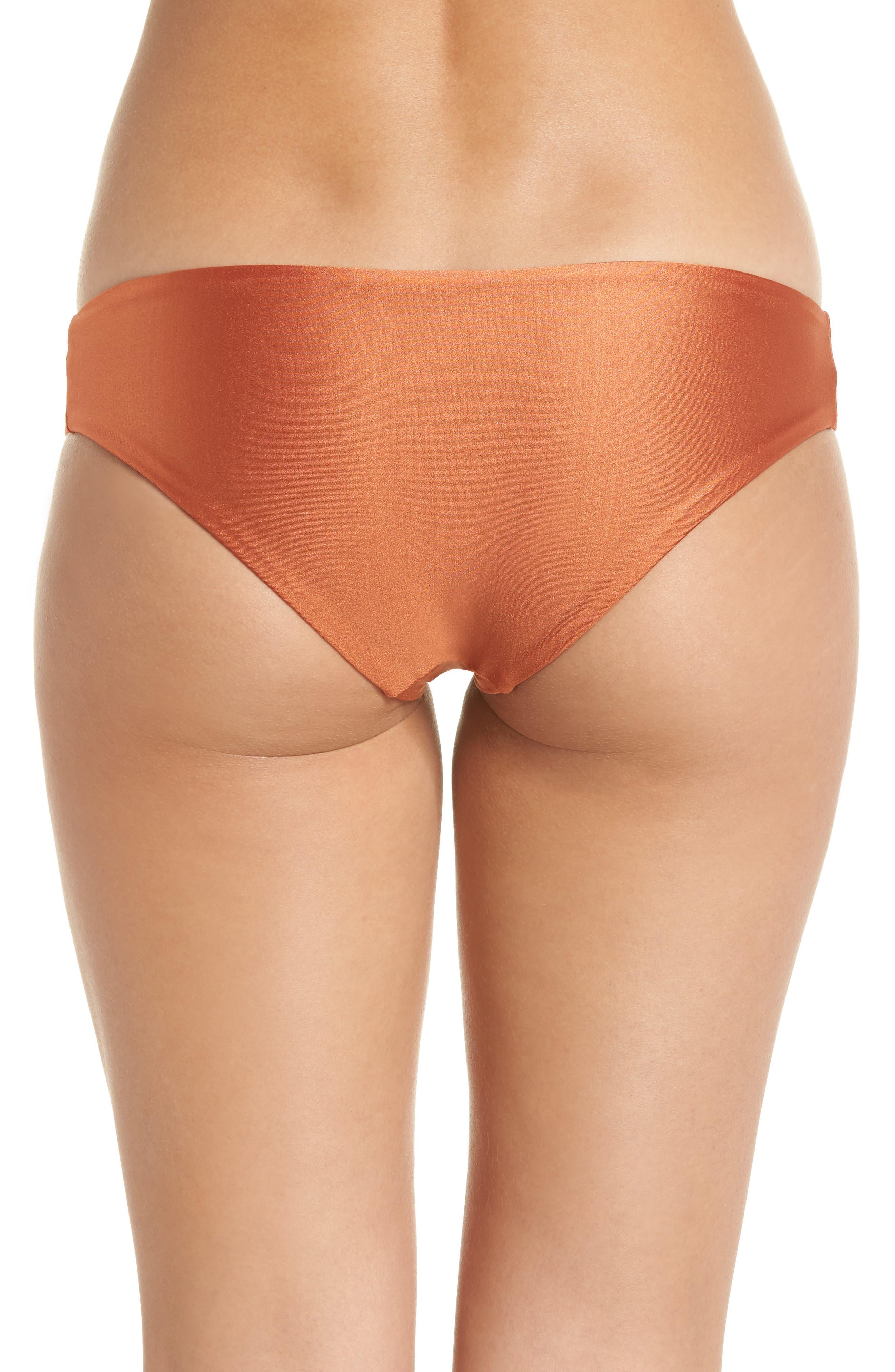 Shimmering Sublime Signature Reversible Bikini Bottoms,                             Alternate thumbnail 3, color,                             221