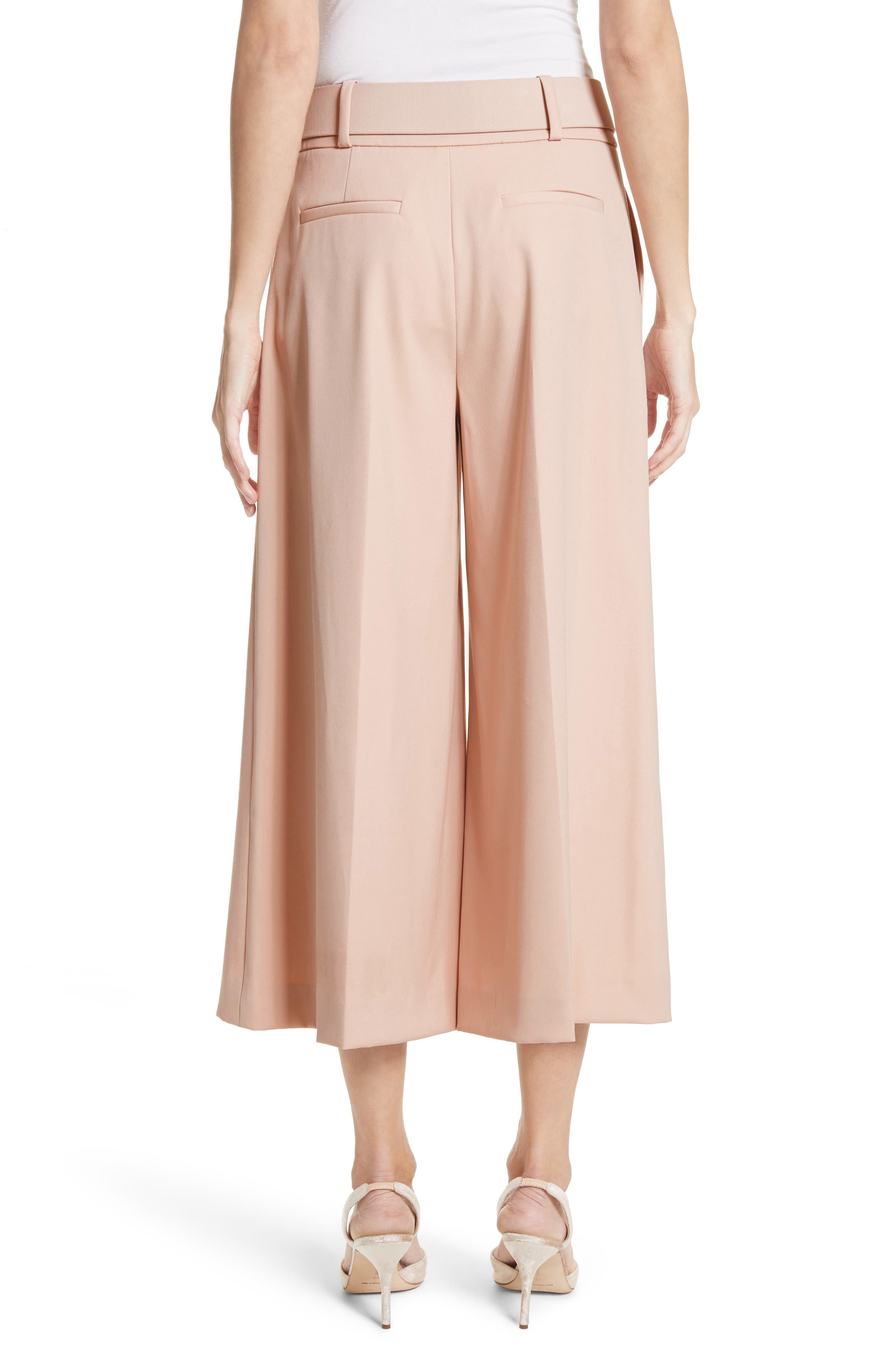 Stretch Wool Gabardine Culottes,                             Alternate thumbnail 2, color,                             690