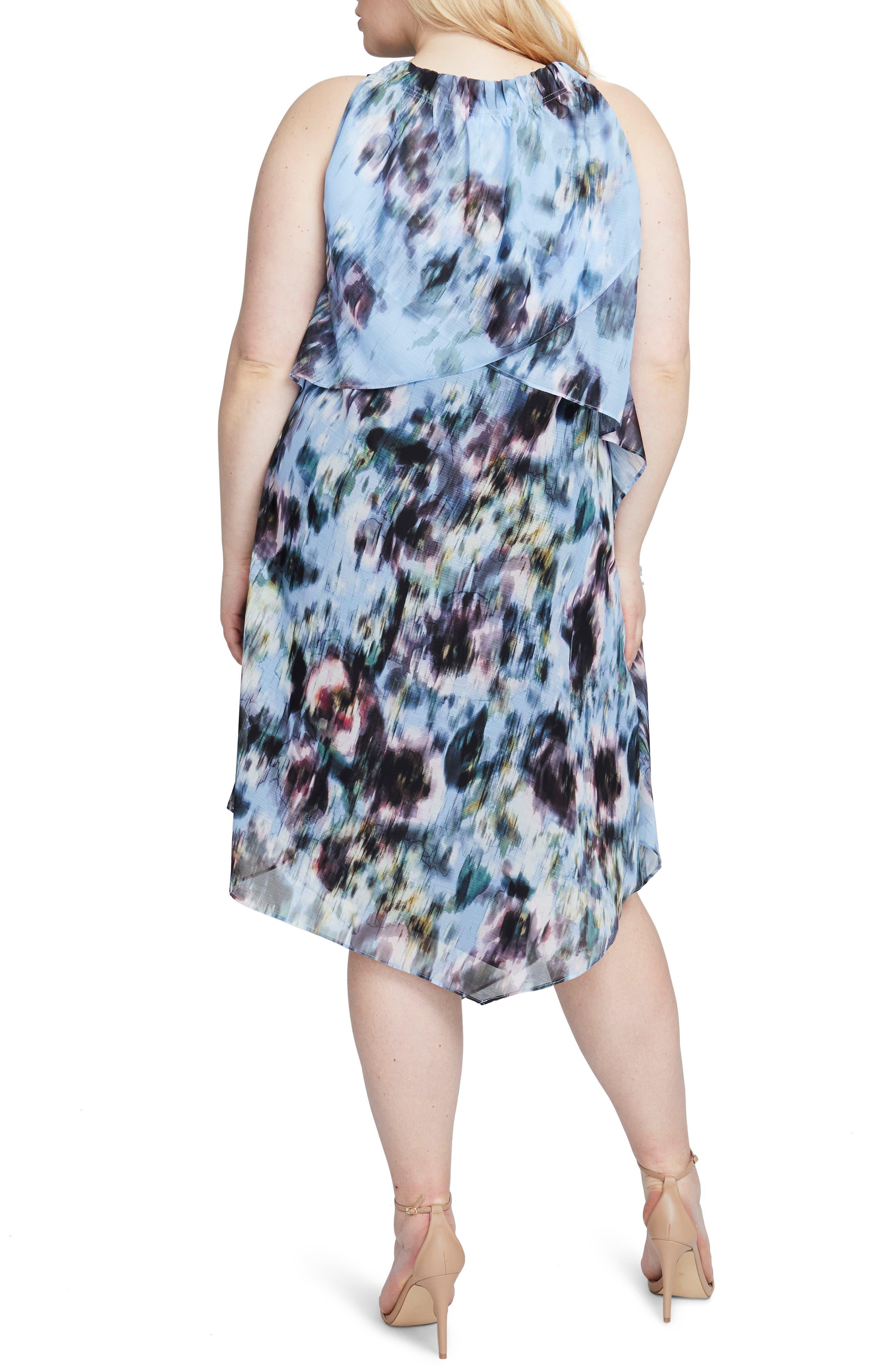 Floral Halter Scarf Dress,                             Alternate thumbnail 2, color,                             MULTI COMBO