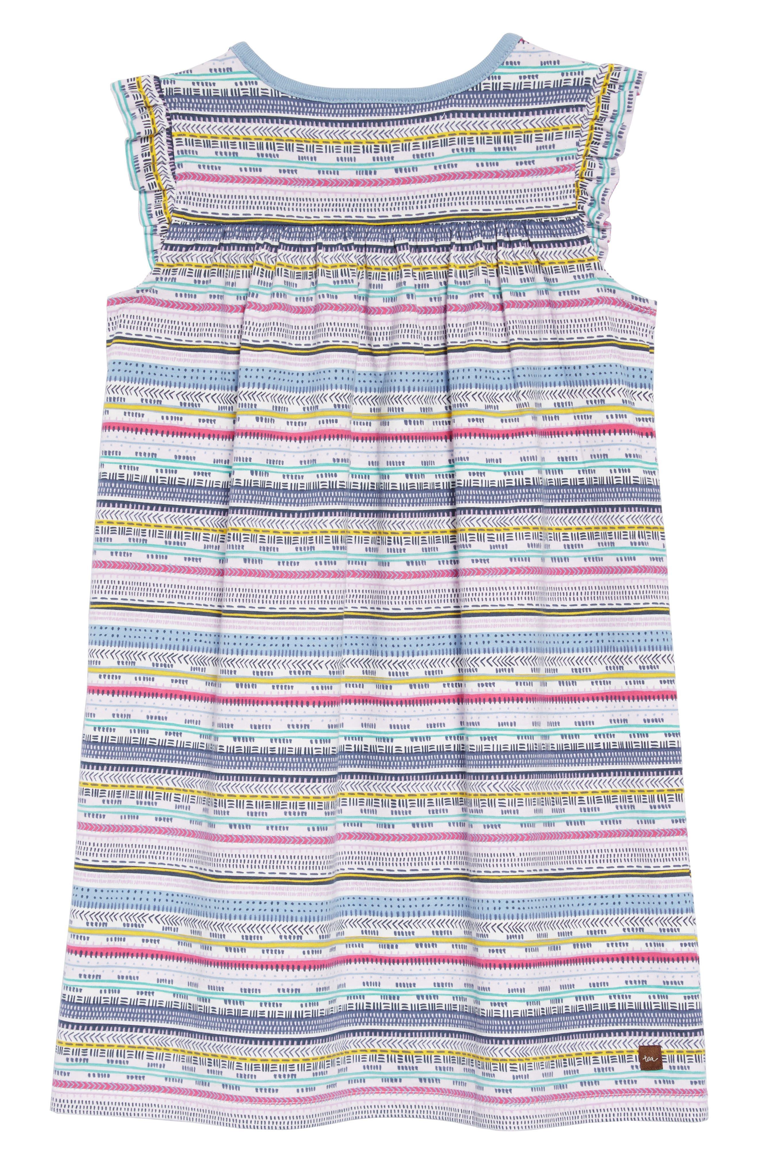 TEA COLLECTION,                             Might Mini Dress,                             Alternate thumbnail 2, color,                             HA TAY GEO STRIPE