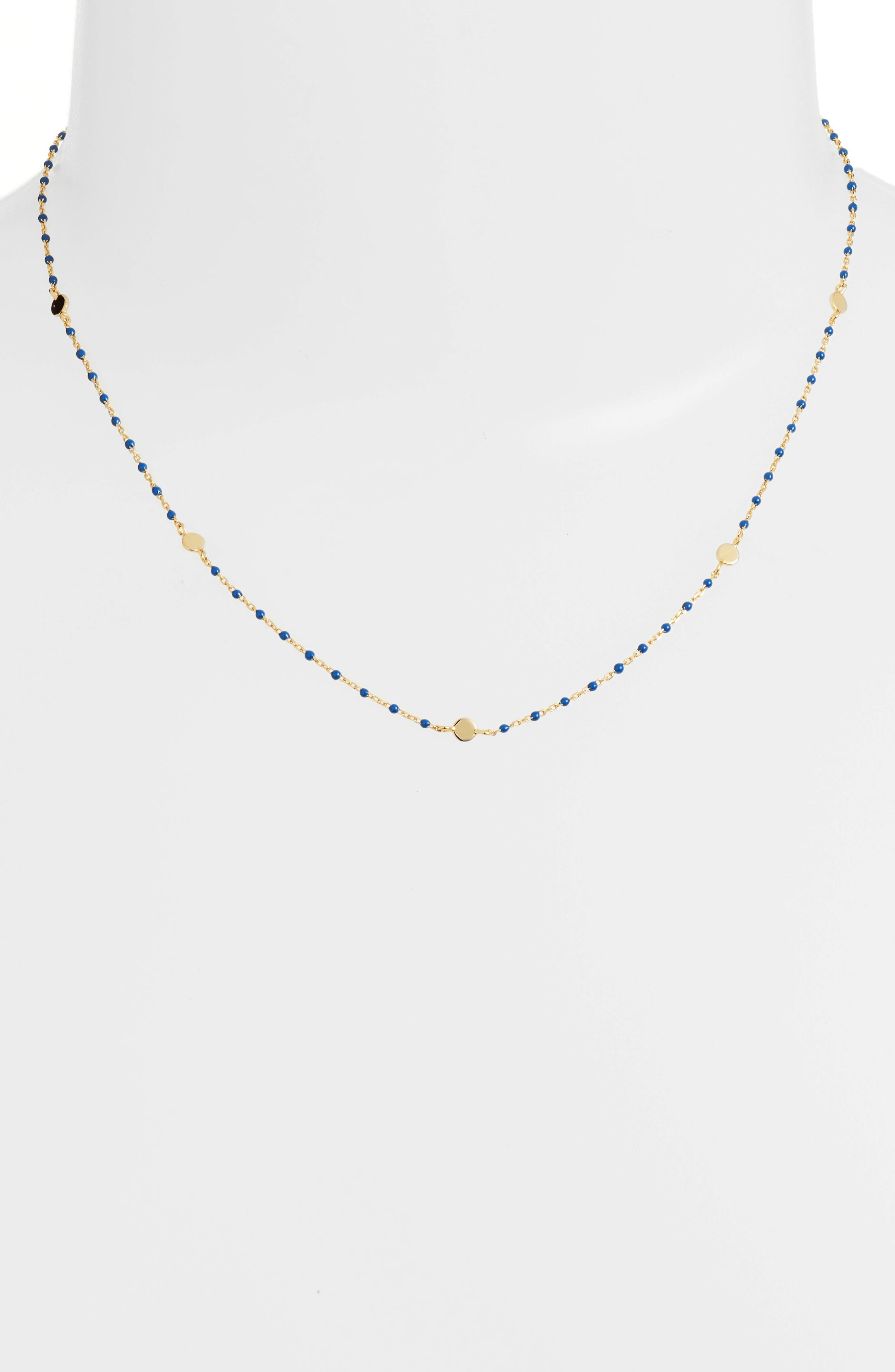 Beaded Station Necklace,                         Main,                         color,