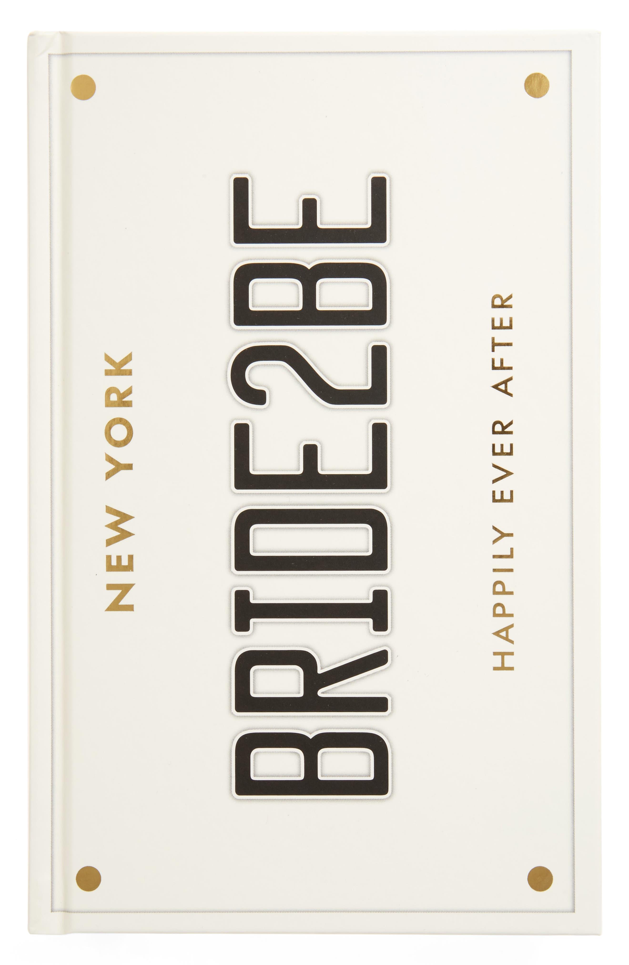 KATE SPADE NEW YORK bridal notebook, Main, color, 100