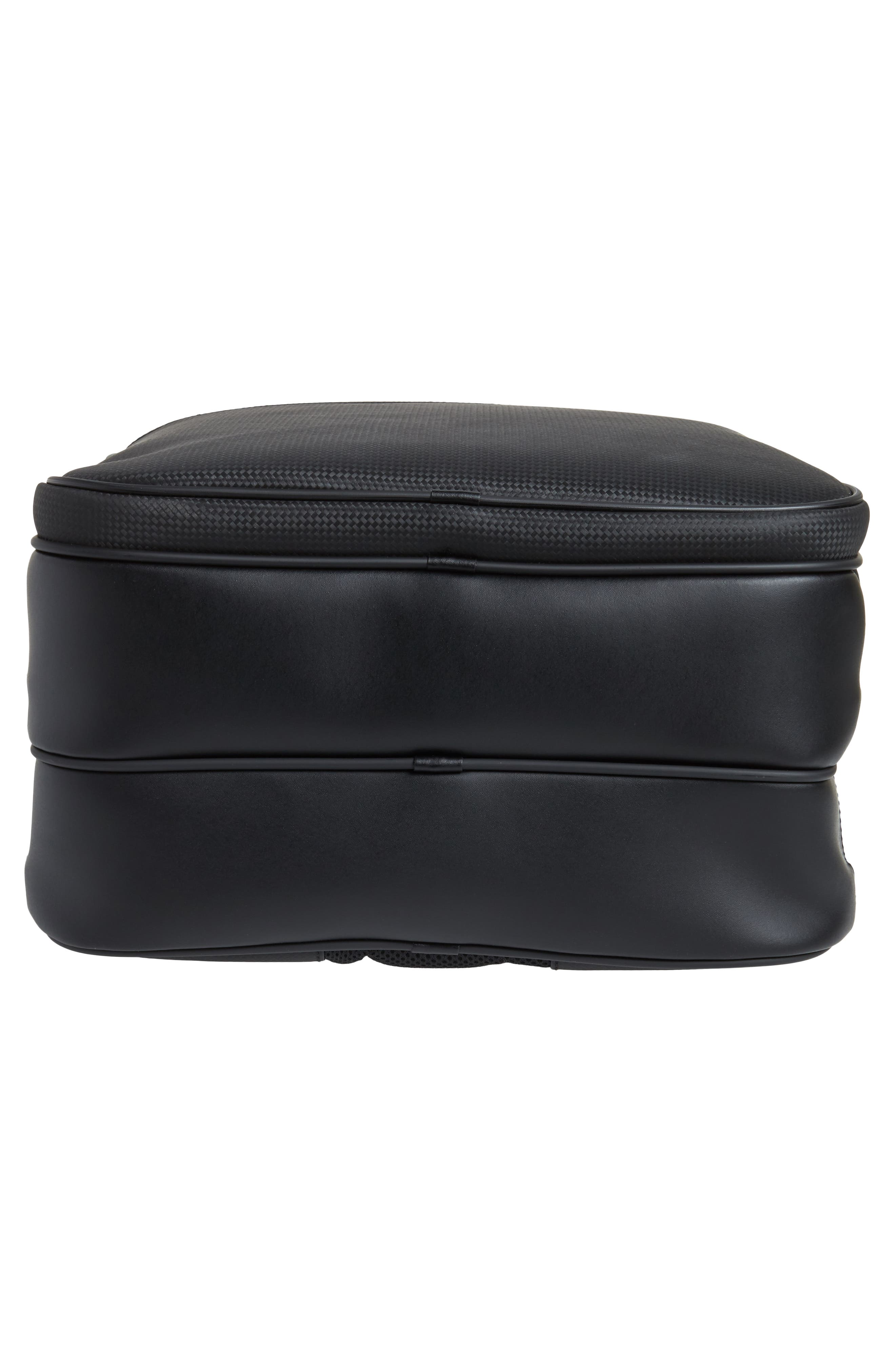 Extreme Leather Backpack,                             Alternate thumbnail 6, color,                             BLACK