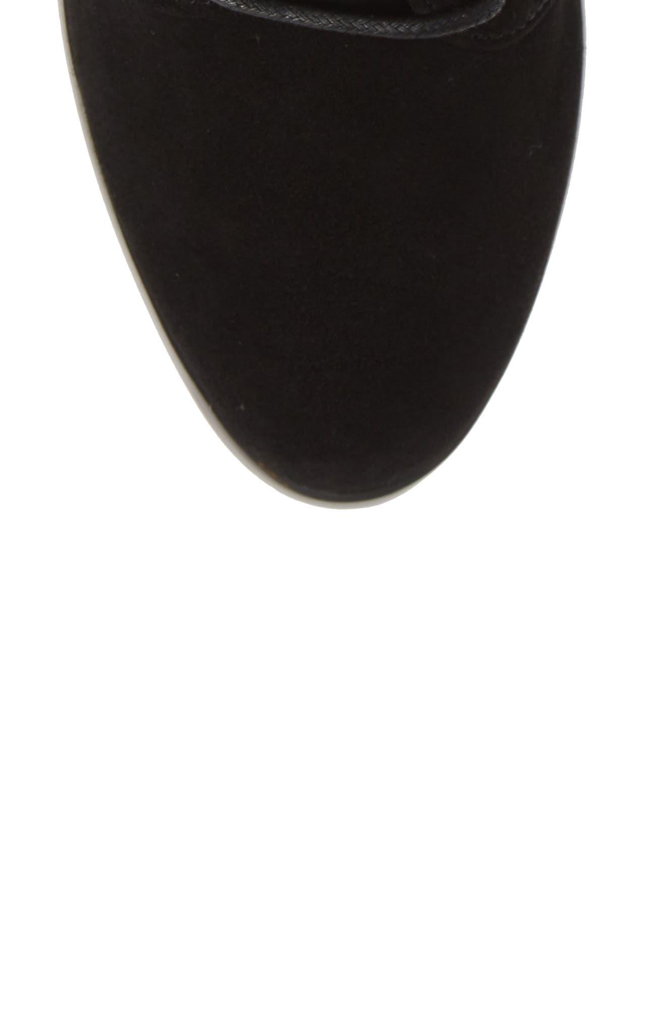 Smith Lace-Up Bootie,                             Alternate thumbnail 5, color,                             BLACK SUEDE