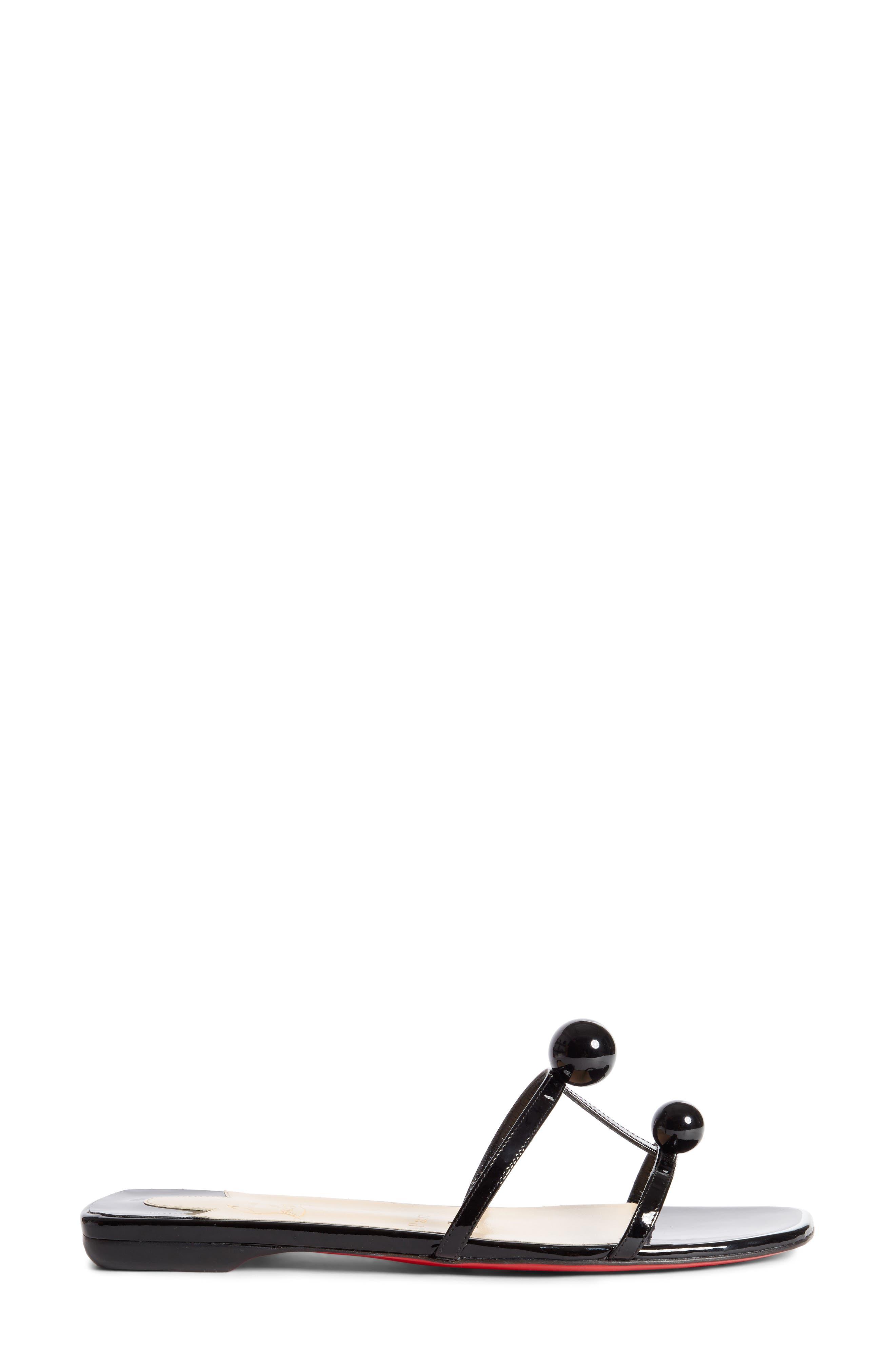 Atonetta Ornament Slide Sandal,                             Alternate thumbnail 3, color,                             003
