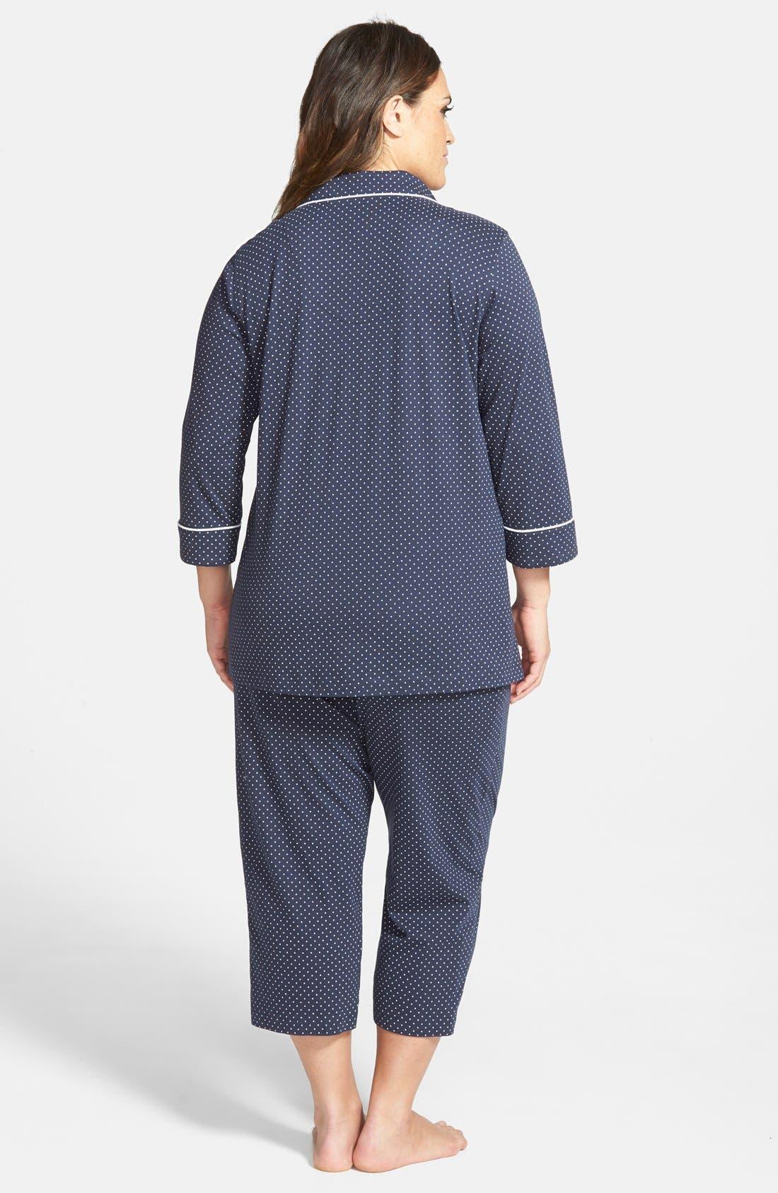 Knit Crop Pajamas,                             Alternate thumbnail 10, color,