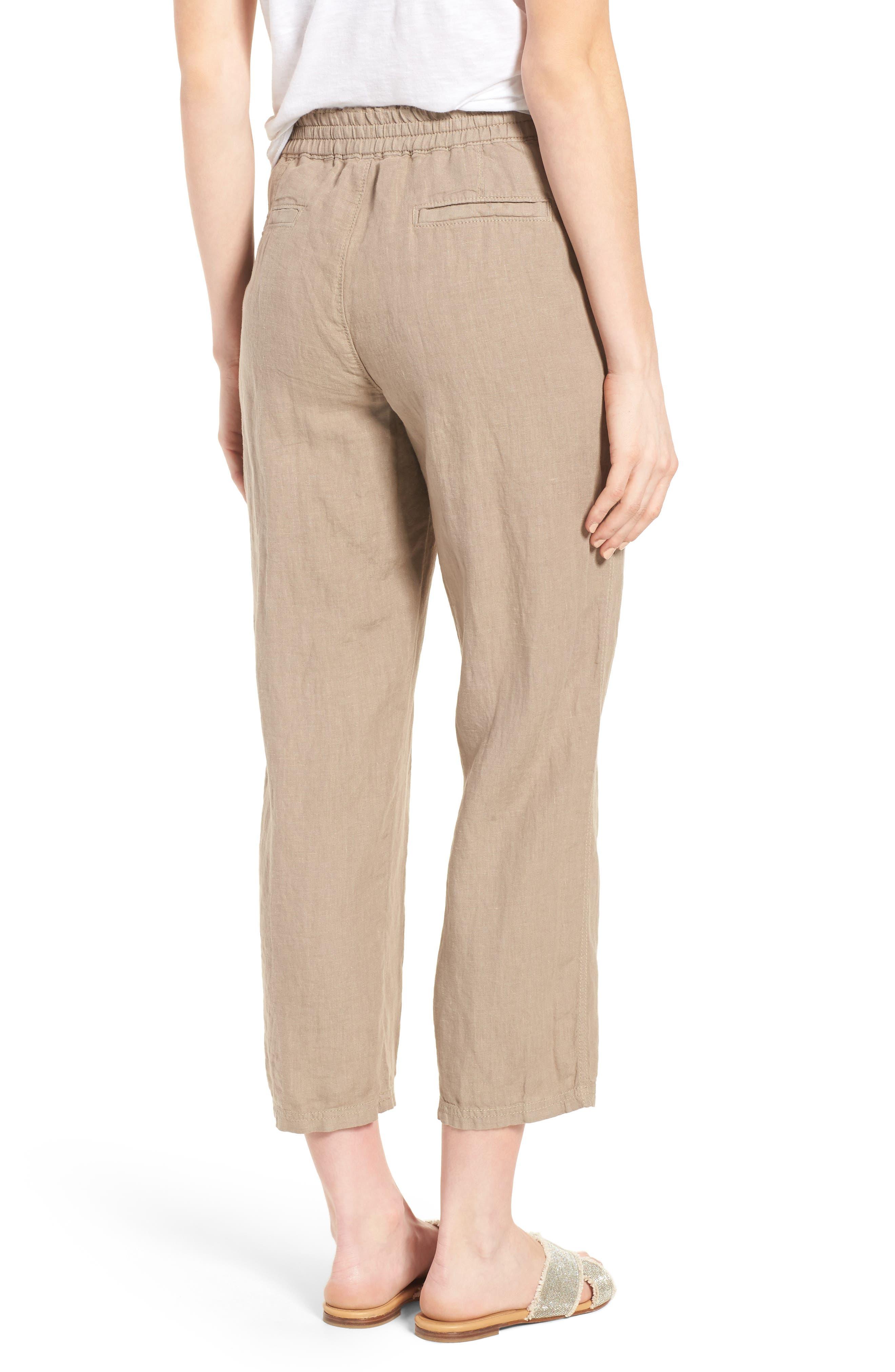 Linen Crop Pants,                             Alternate thumbnail 11, color,