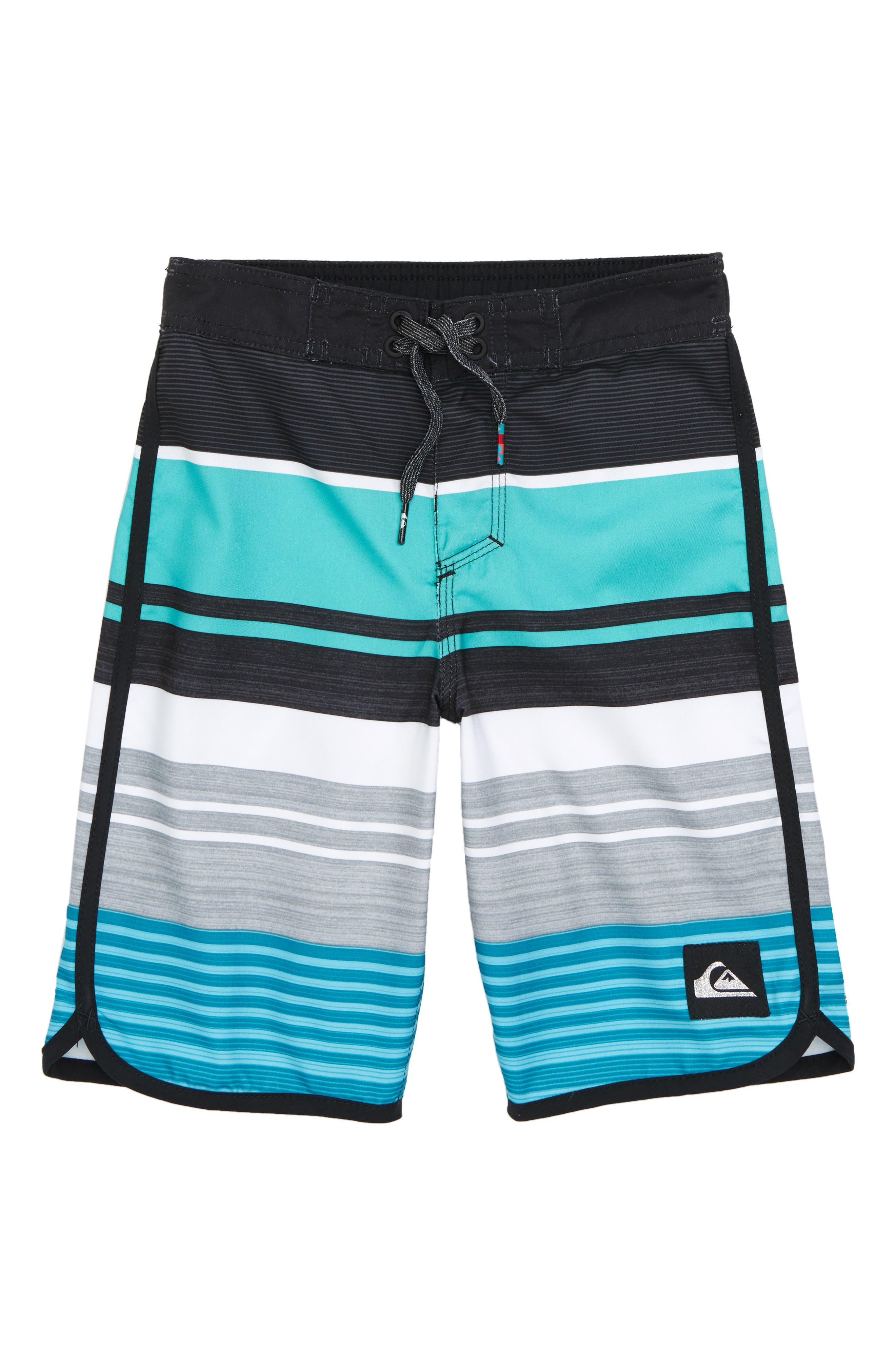 Eye Scallop Board Shorts,                             Main thumbnail 1, color,                             TYPHOON