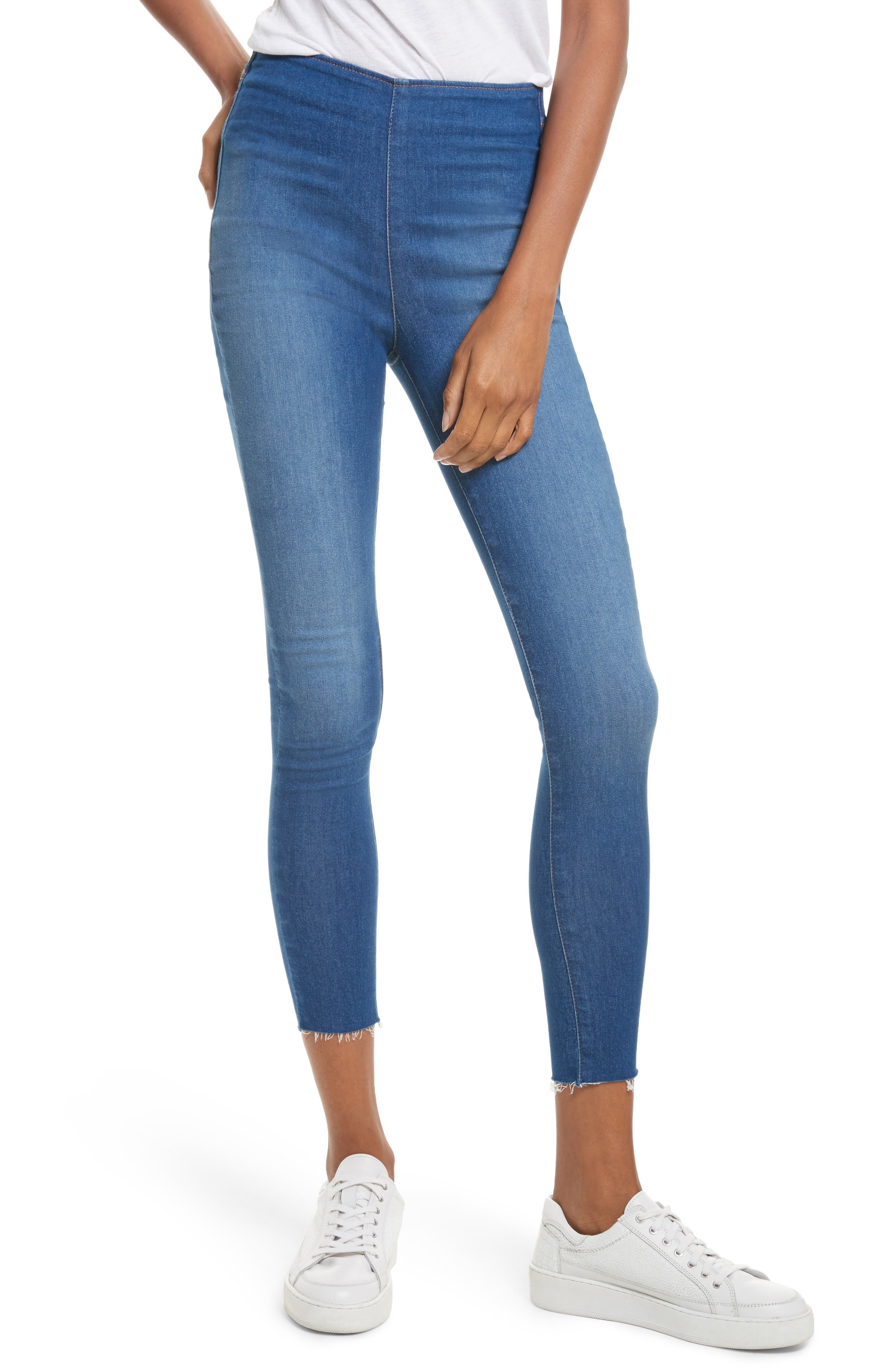 We the Free by Free People Easy Goes It Denim Leggings,                             Main thumbnail 1, color,                             400