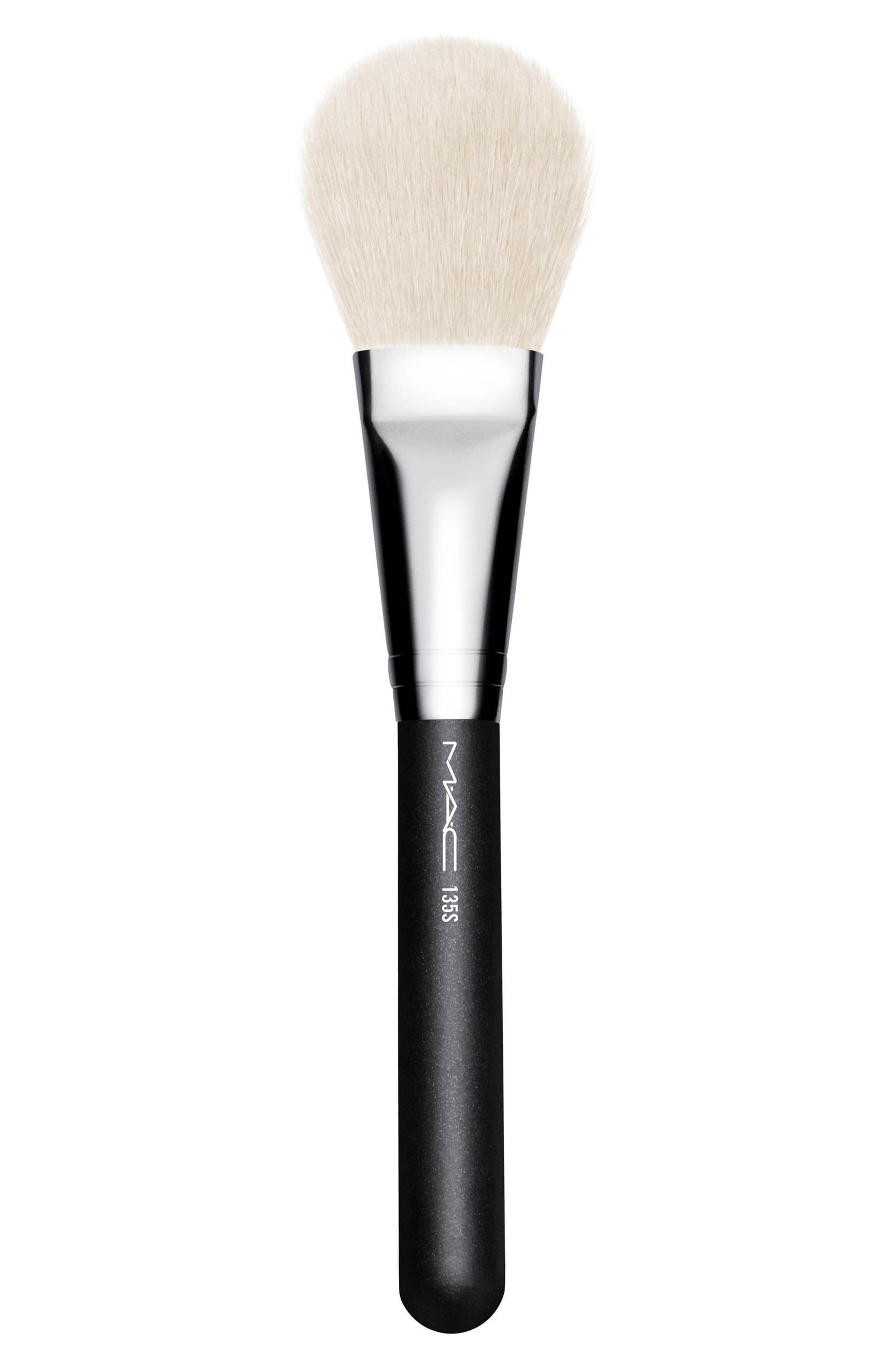 MAC 135S Synthetic Large Flat Powder Brush,                             Main thumbnail 1, color,                             000