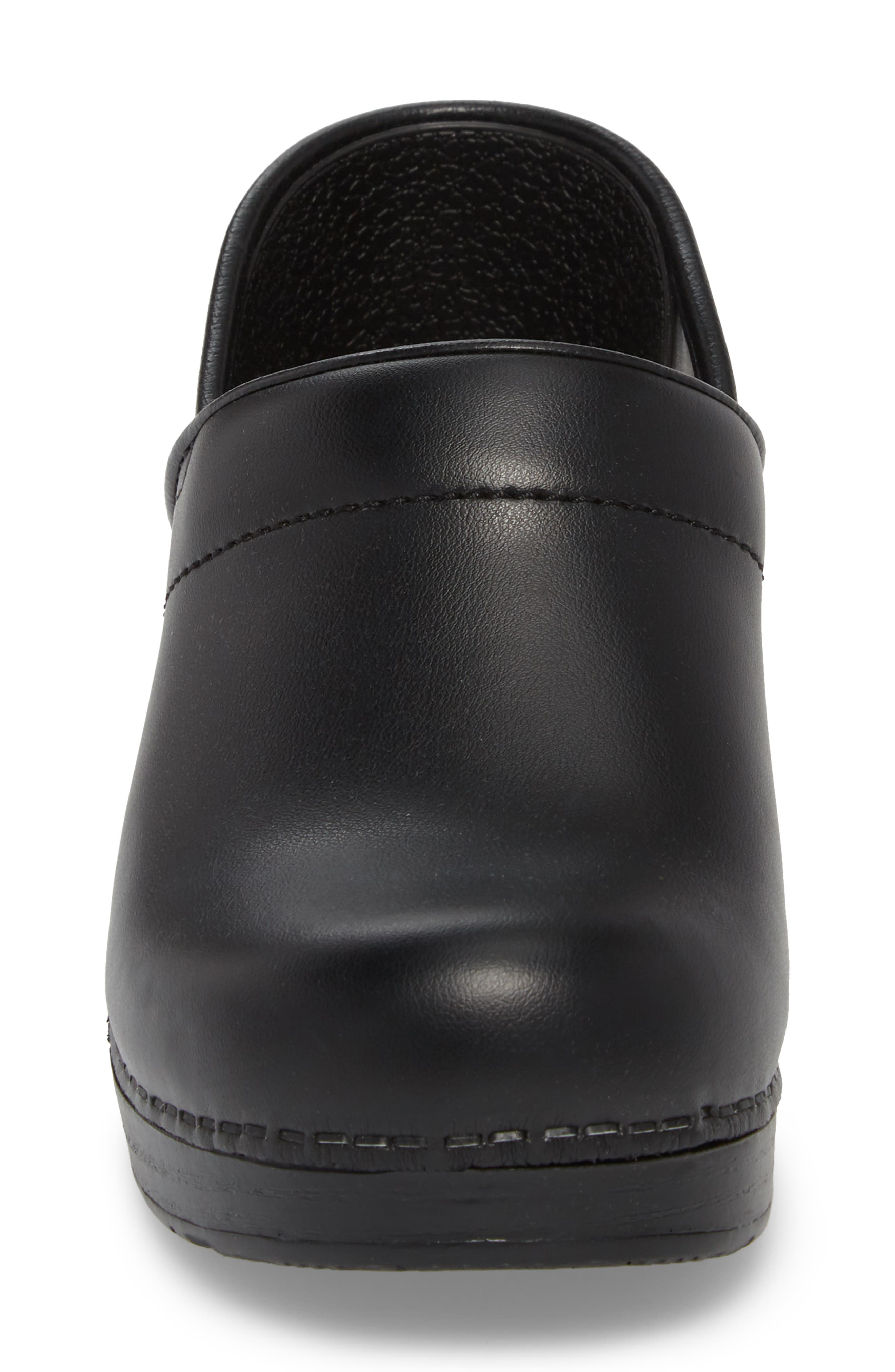 'Professional' Clog,                             Alternate thumbnail 4, color,                             BLACK LEATHER