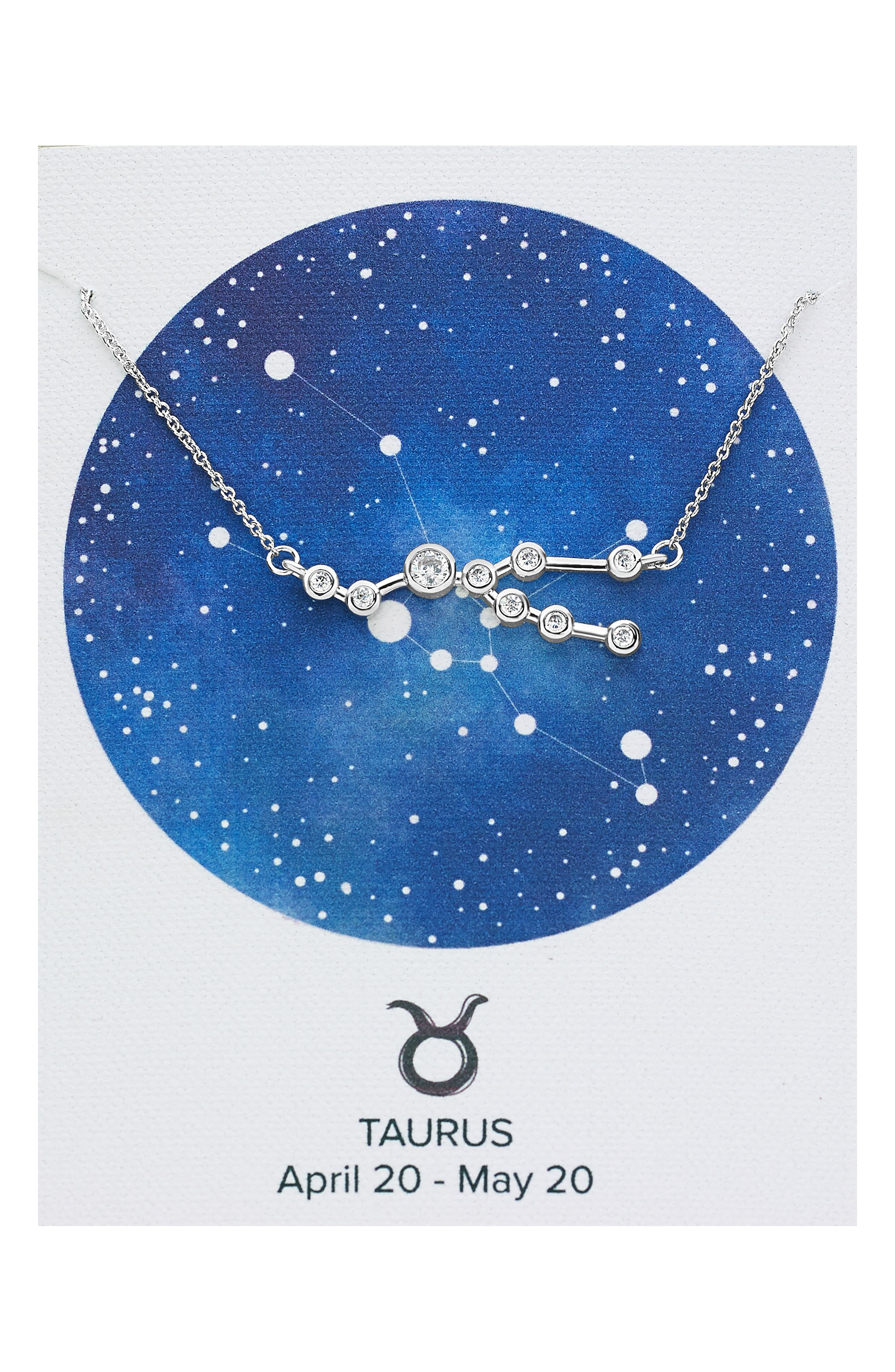 Constellation Necklace,                             Main thumbnail 1, color,                             SILVER - TAURUS