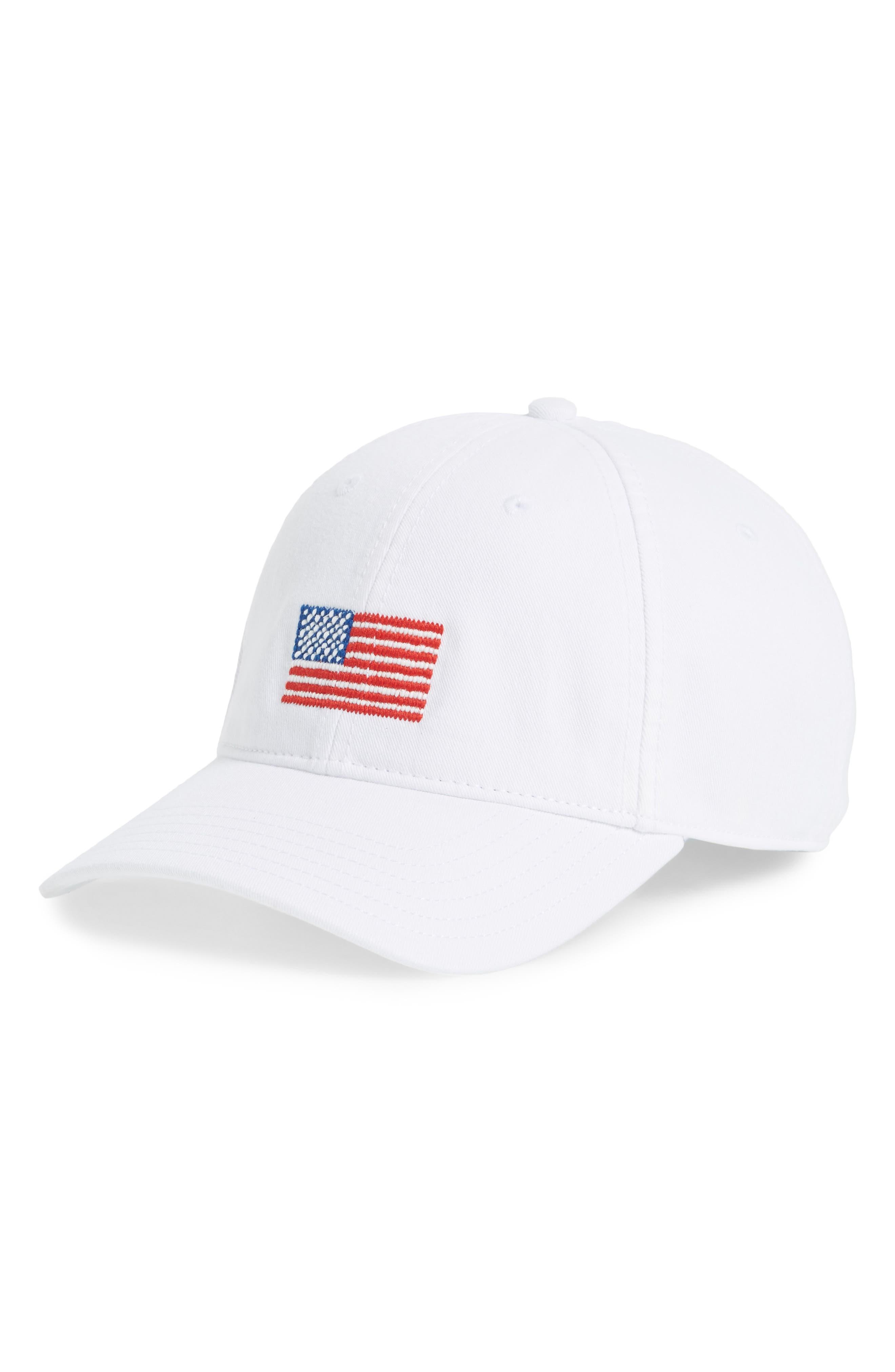 Baseball Cap,                         Main,                         color, WHITE