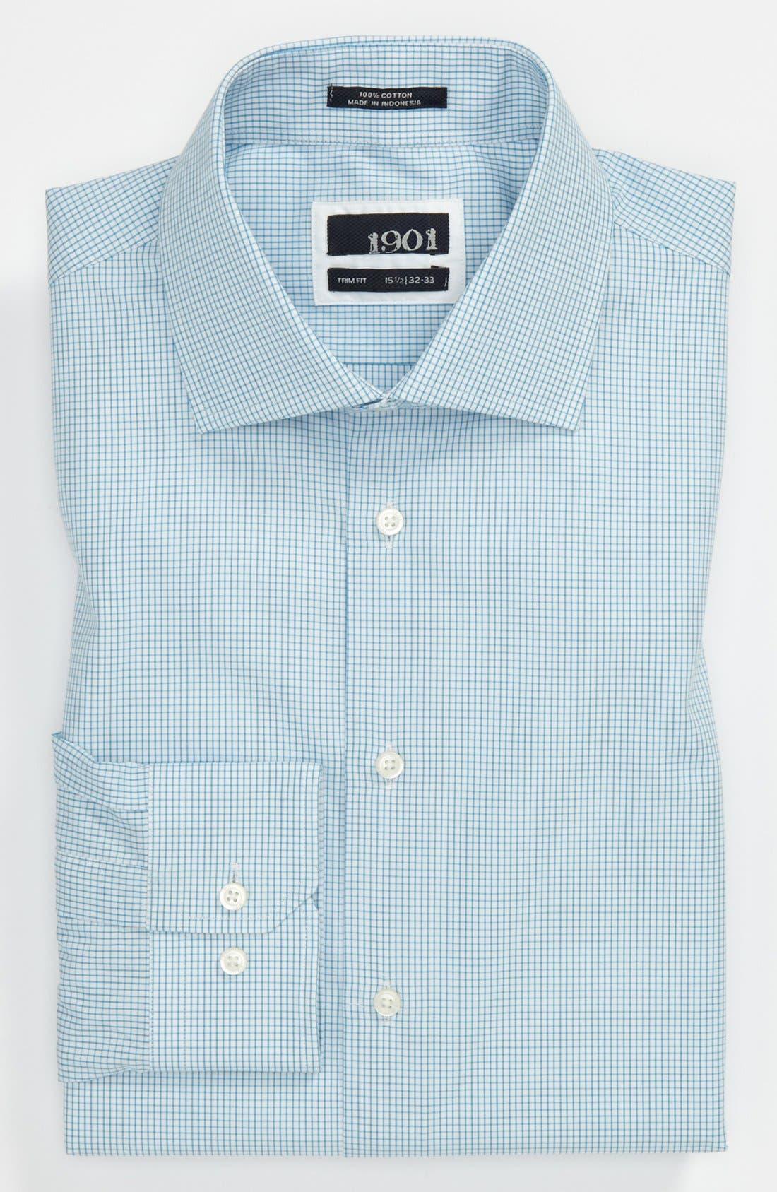 Trim Fit Dress Shirt,                             Main thumbnail 1, color,                             450