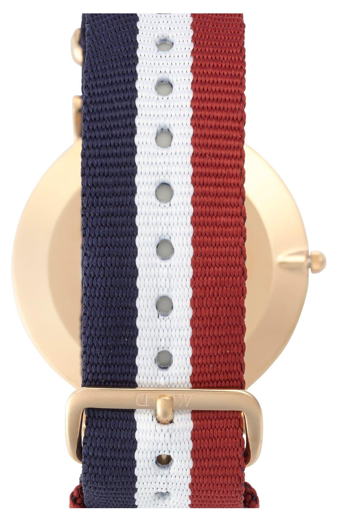 'Classic Cambridge' NATO Strap Watch, 40mm,                             Alternate thumbnail 3, color,                             100