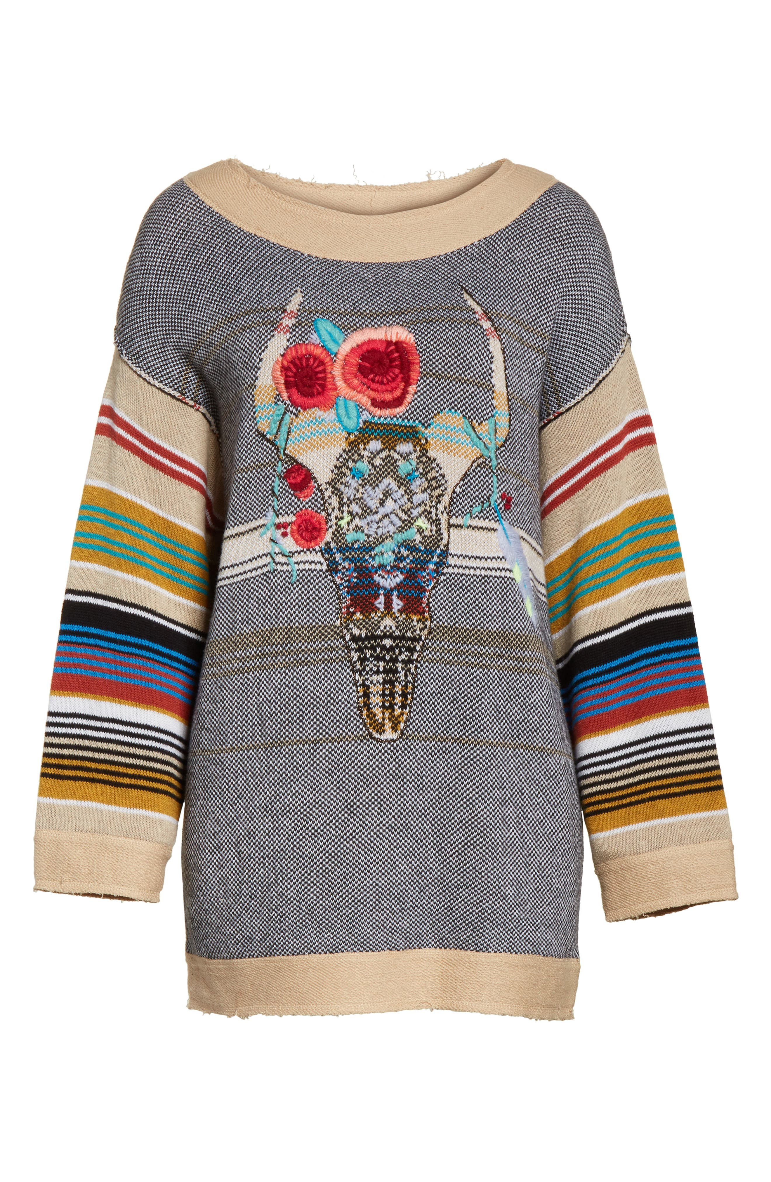 Desert Rose Sweater,                             Alternate thumbnail 6, color,