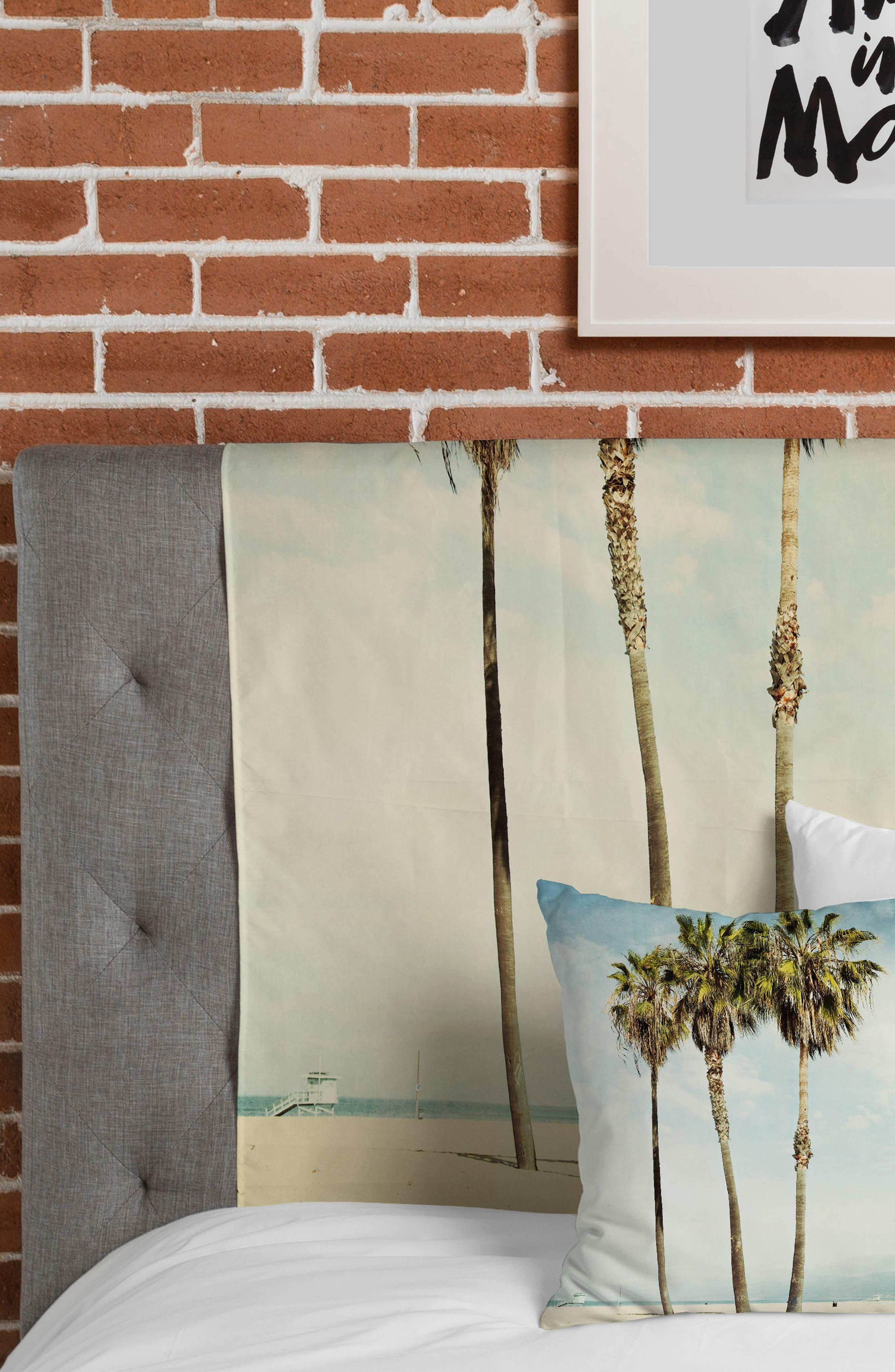 Venice Beach Palms Tapestry,                             Alternate thumbnail 5, color,