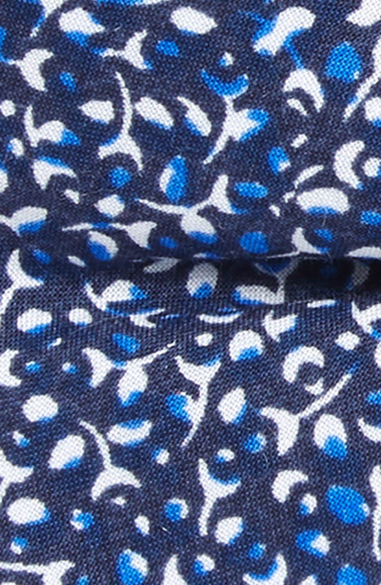 Print Cotton Bow Tie,                             Alternate thumbnail 2, color,                             NAVY
