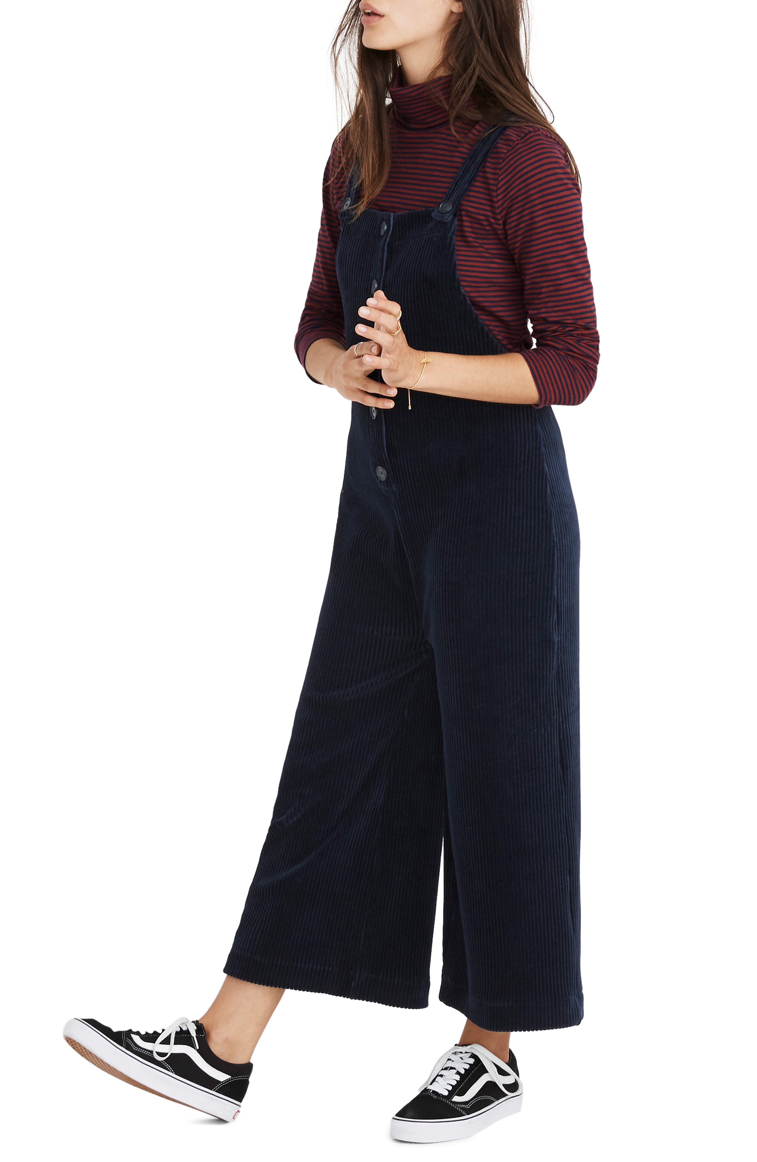MADEWELL,                             Texture & Thread Velour Corduroy Overalls,                             Alternate thumbnail 4, color,                             400