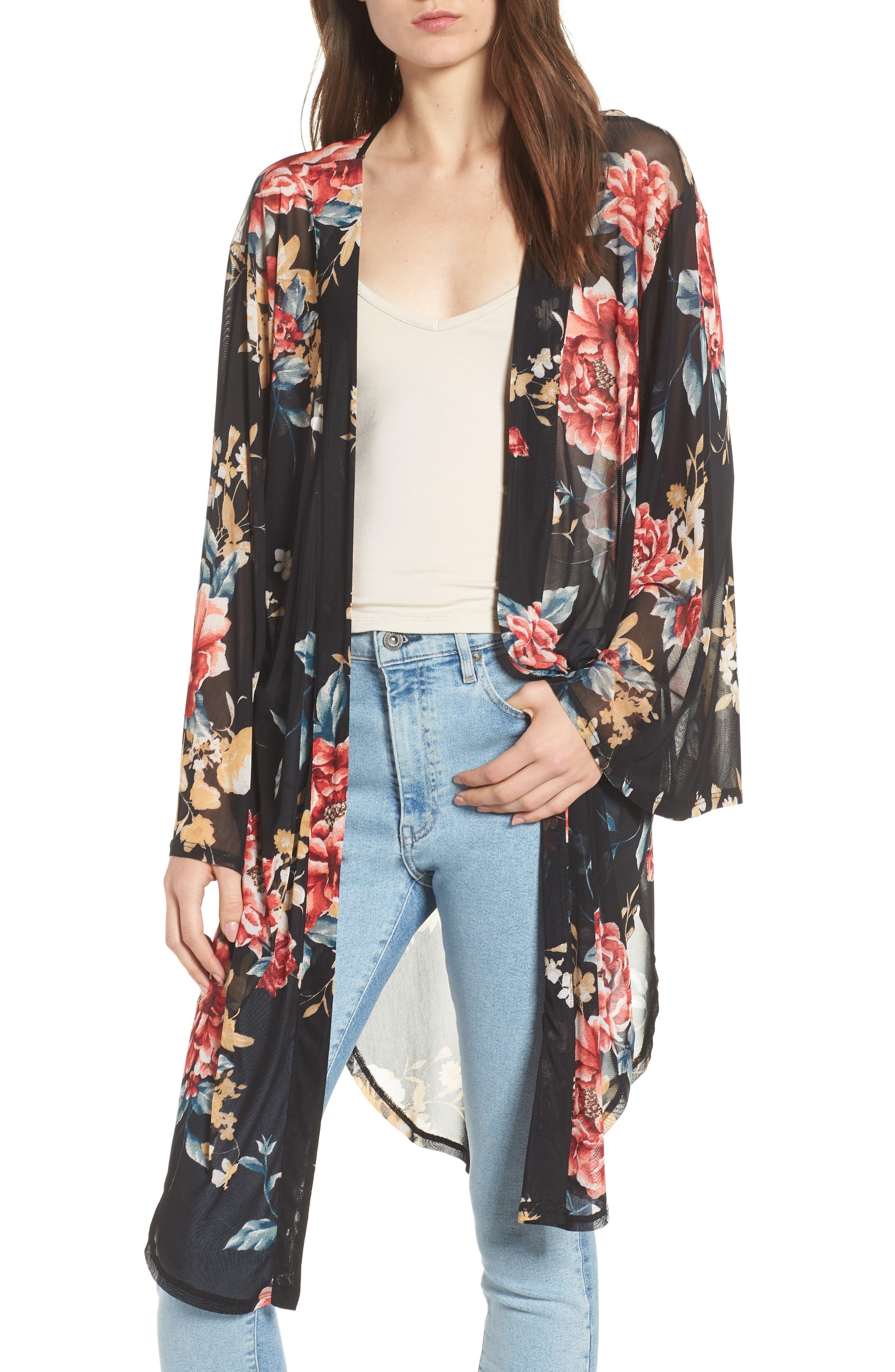 Floral Kimono,                         Main,                         color, 001