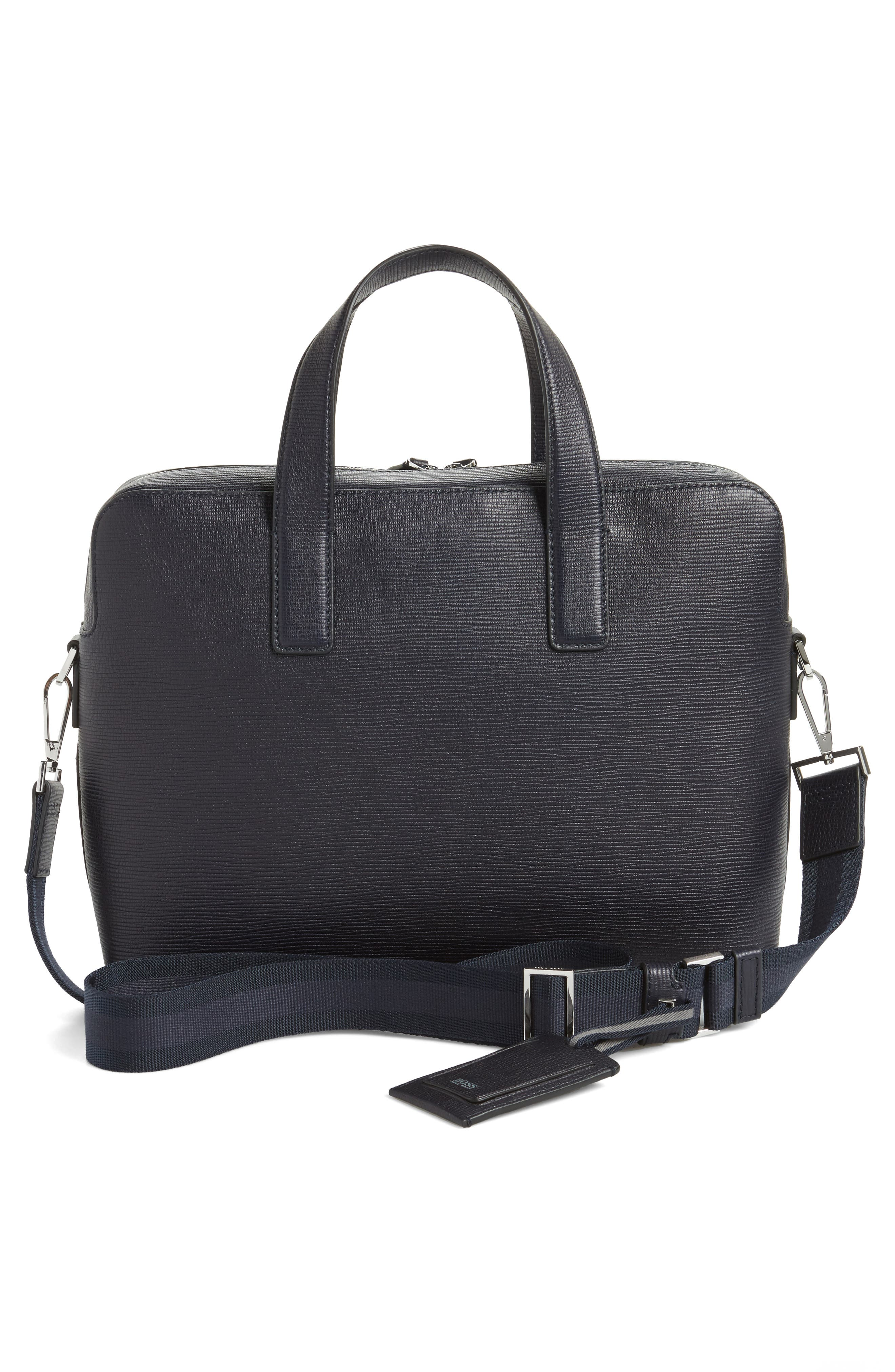 Timeless Leather Document Briefcase,                             Alternate thumbnail 3, color,                             411