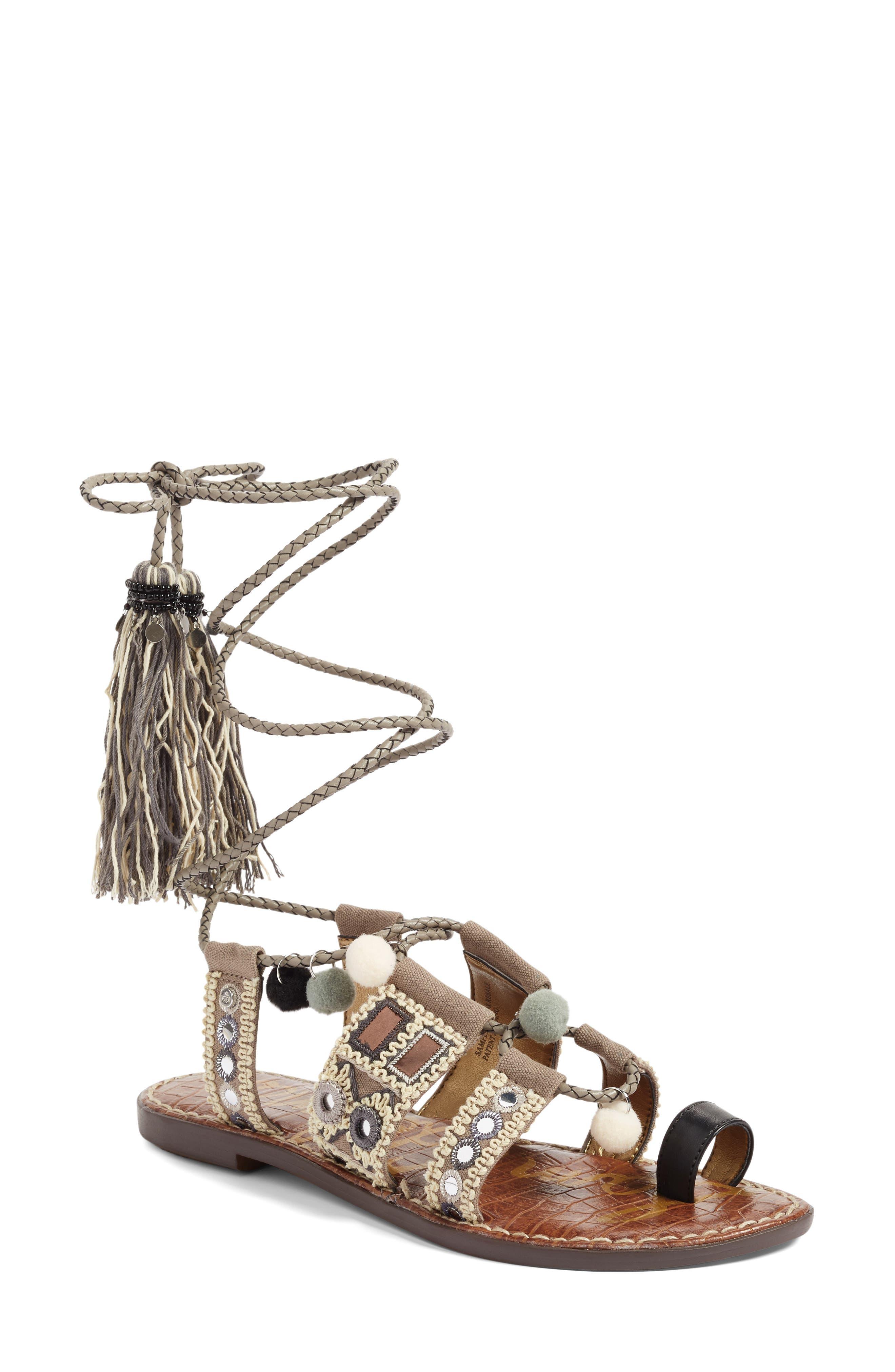 Gretchen Gladiator Sandal,                             Main thumbnail 1, color,                             020