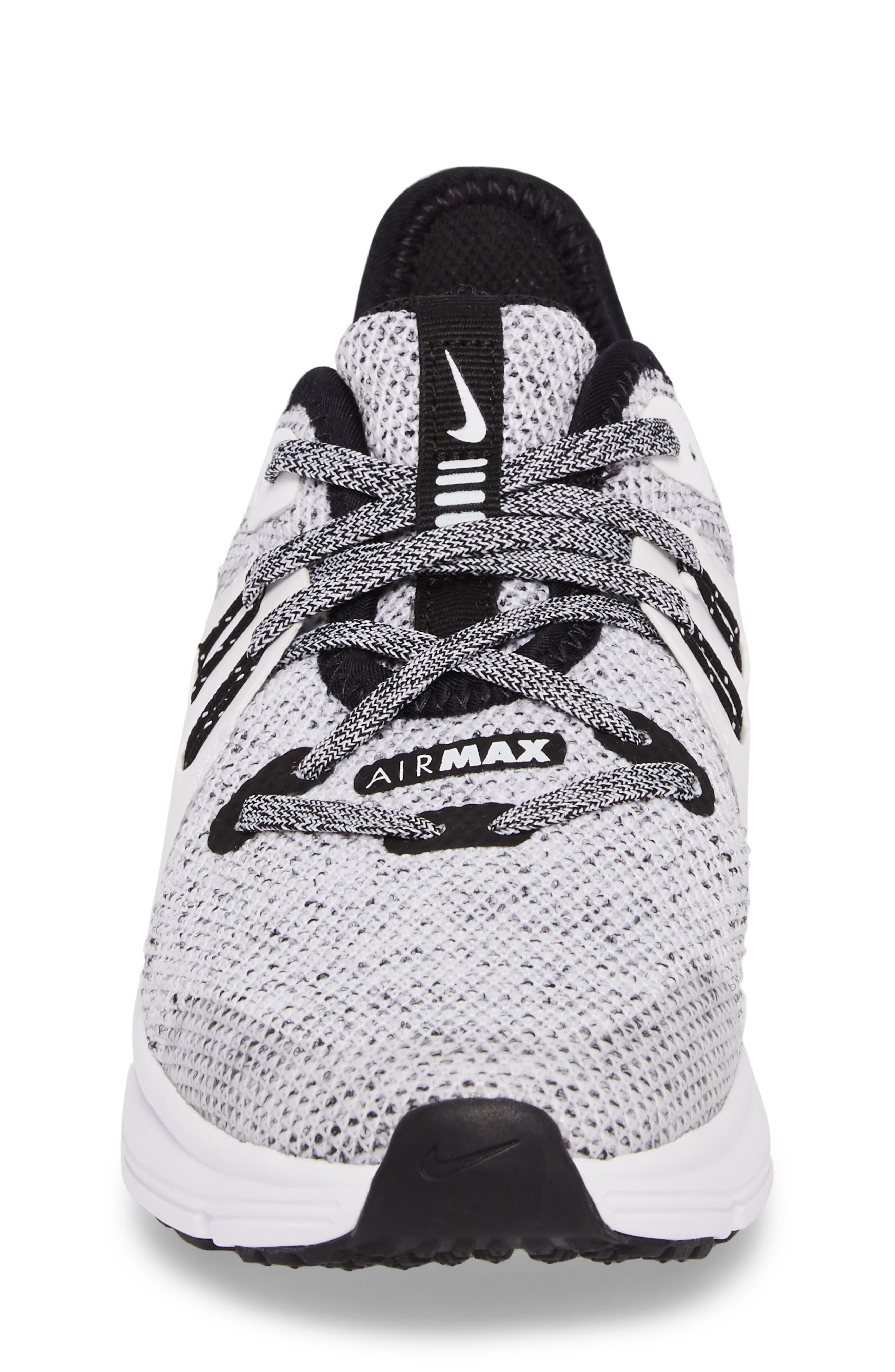 Air Max Sequent 3 GS Running Shoe,                             Alternate thumbnail 4, color,                             BLACK/ WHITE/ METALLIC GOLD