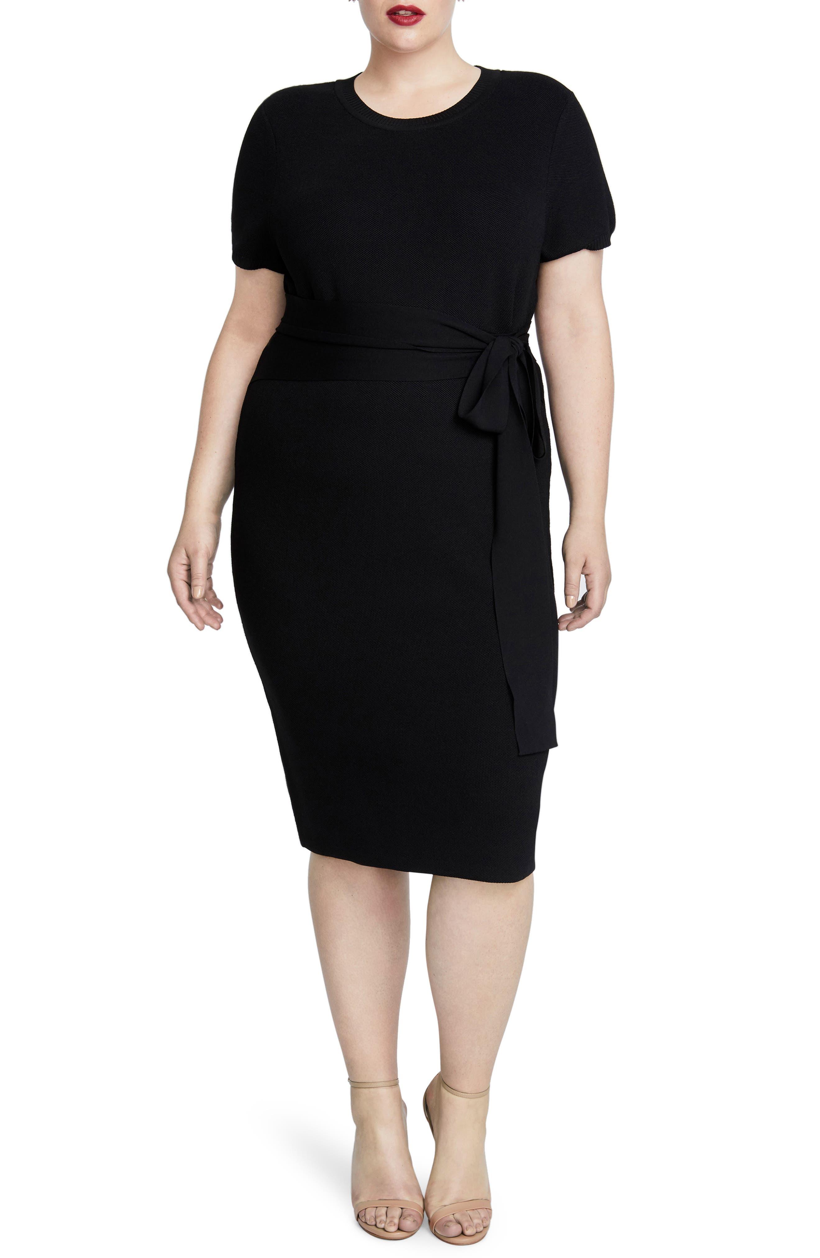 Conall Side Tie Sheath Dress,                             Main thumbnail 1, color,                             001