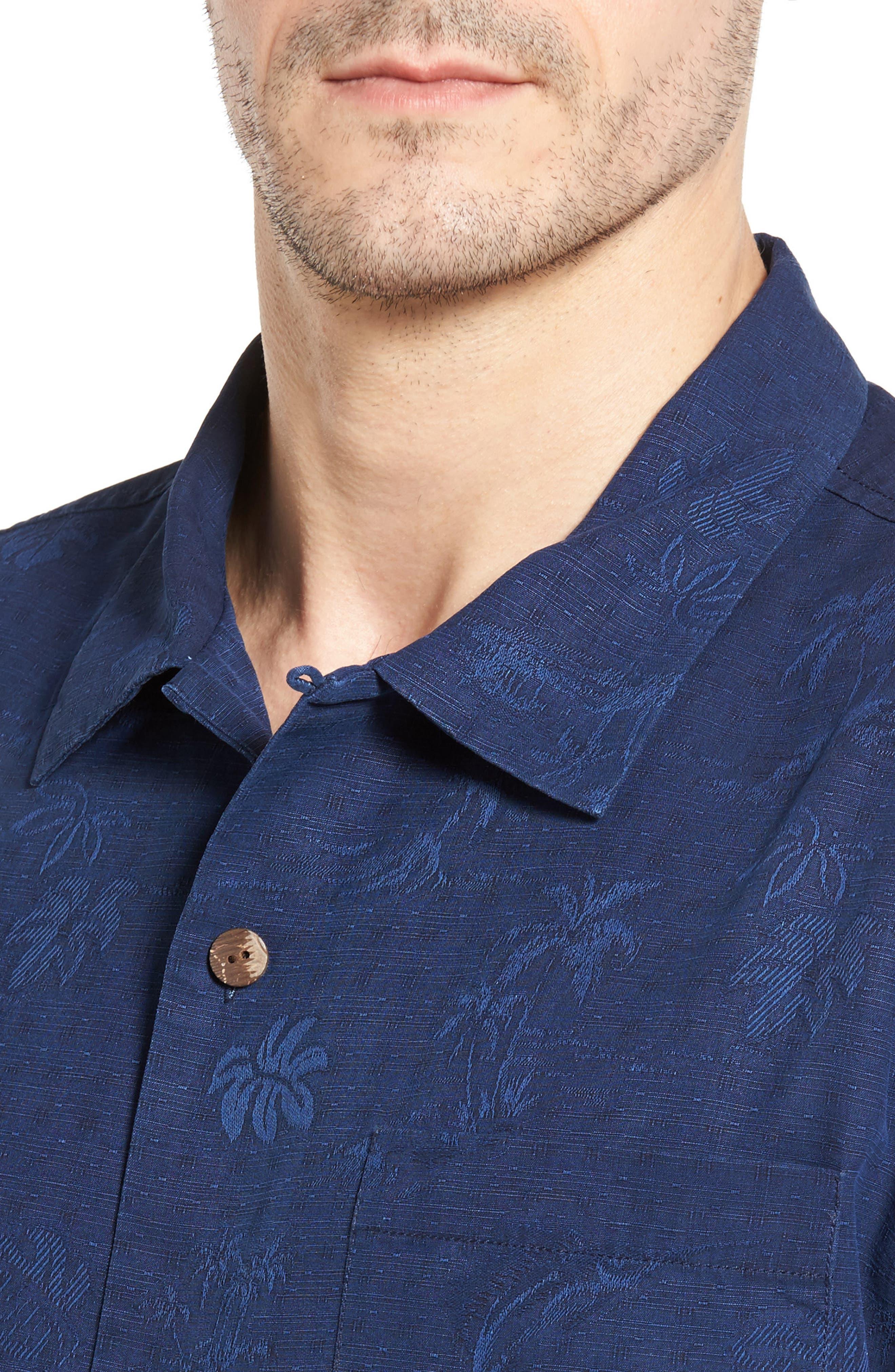 Gulf Shore Marlin Silk Camp Shirt,                             Alternate thumbnail 19, color,