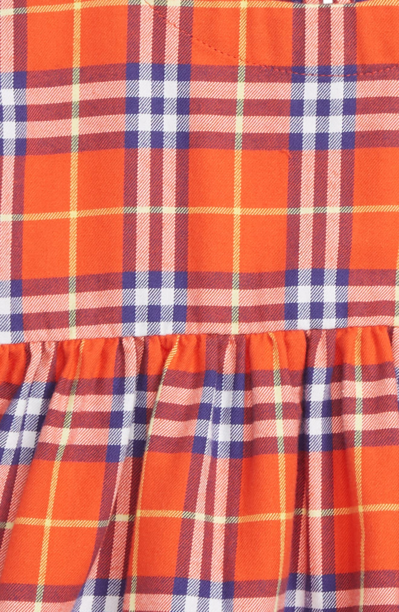 Alima Check Dress,                             Alternate thumbnail 2, color,                             ORANGE RED CHK