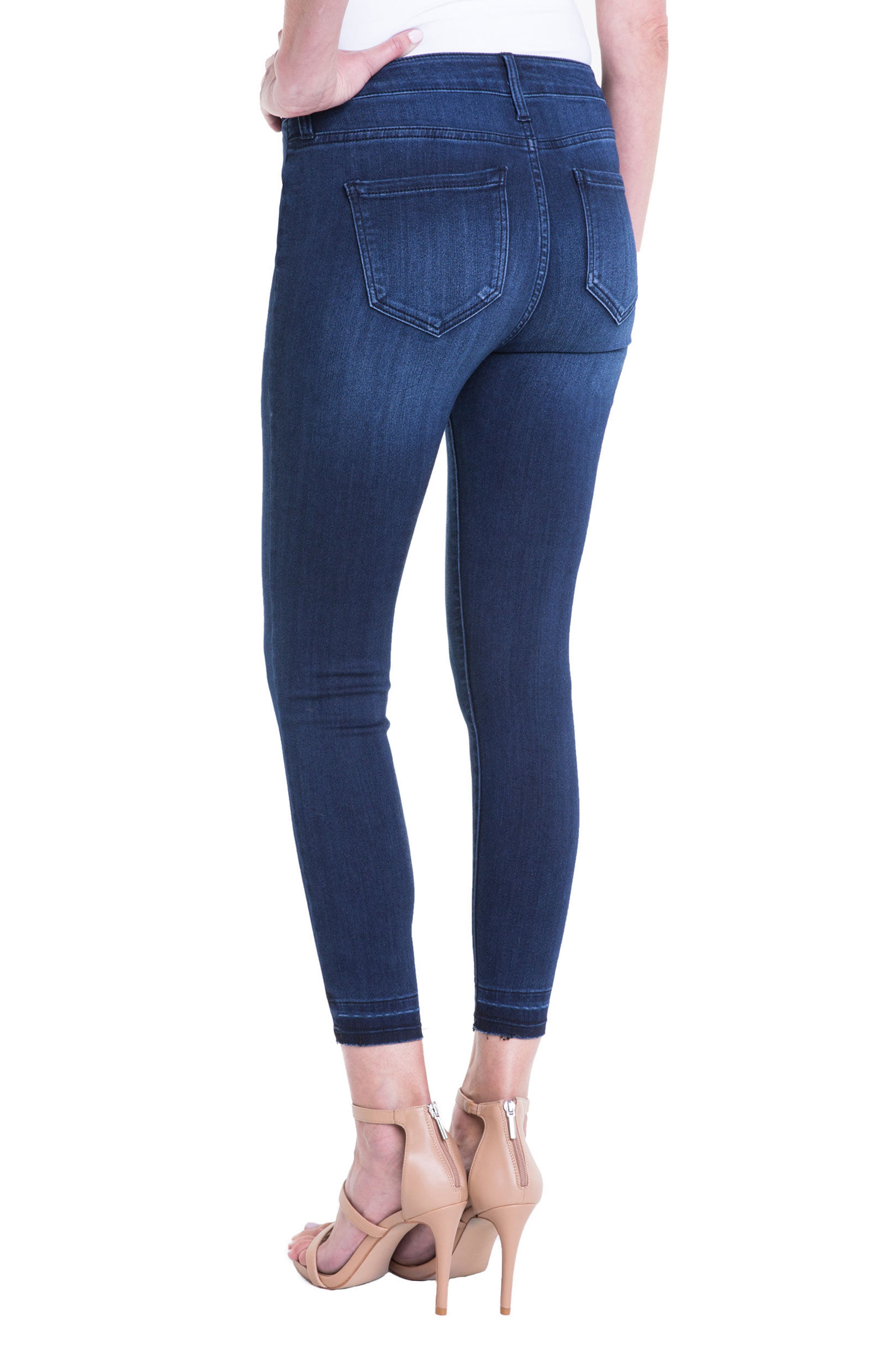 Avery High Rise Release Hem Stretch Crop Skinny Jeans,                             Alternate thumbnail 2, color,                             404