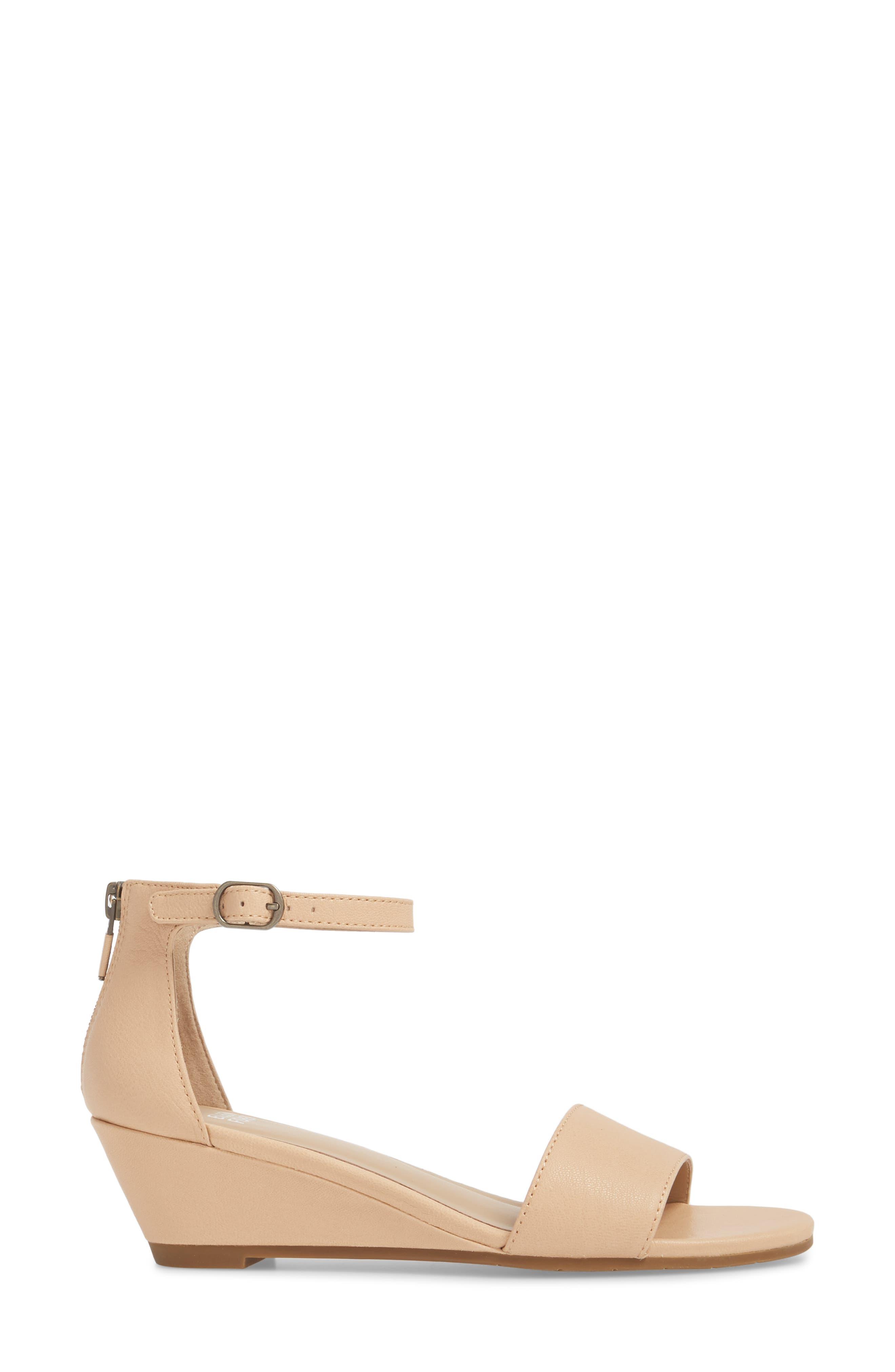 Mara Ankle Strap Wedge Sandal,                             Alternate thumbnail 10, color,