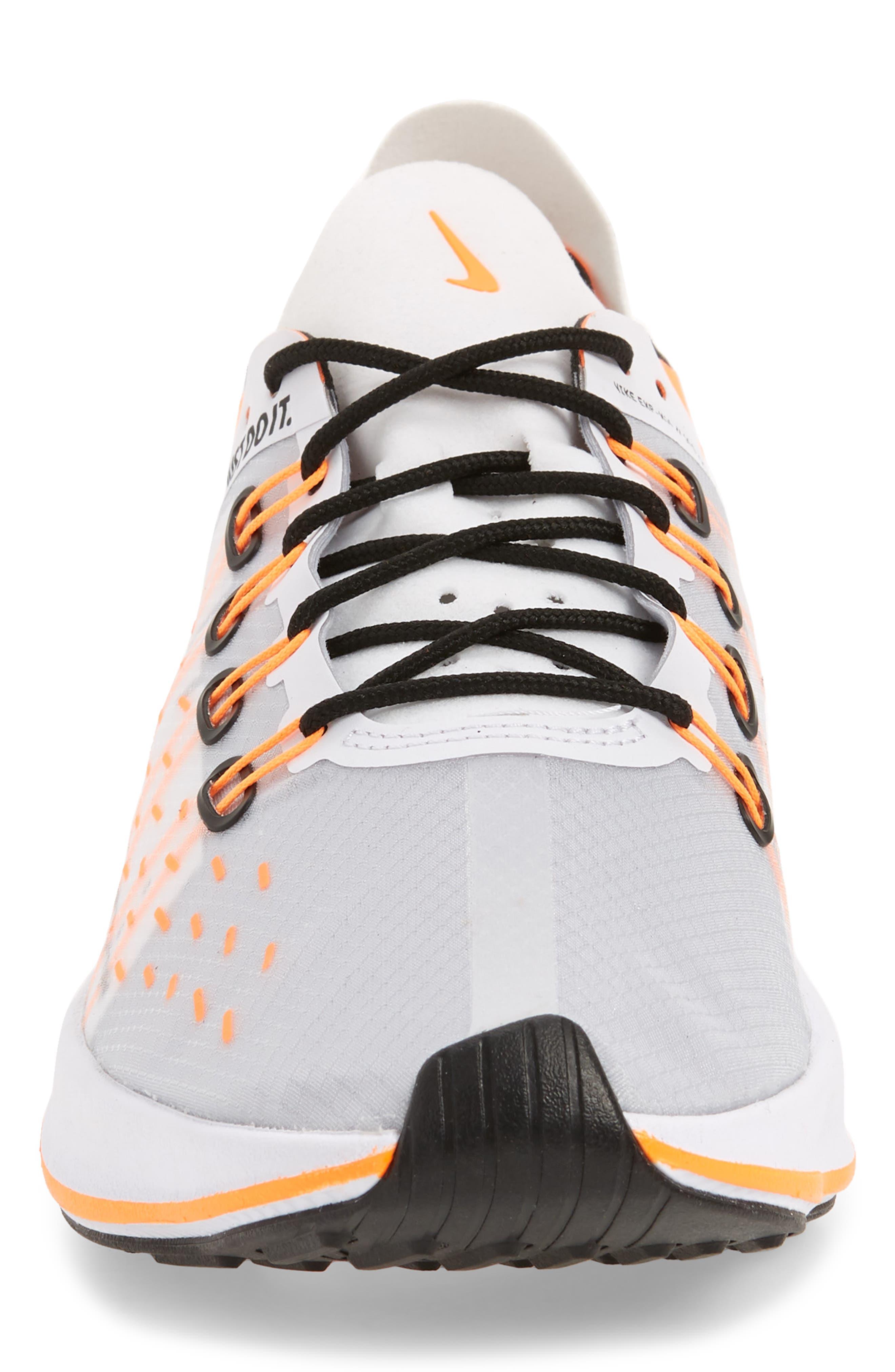 EXP-X14 Just Do It Sneaker,                             Alternate thumbnail 4, color,                             WHITE/ TOTAL ORANGE/ BLACK