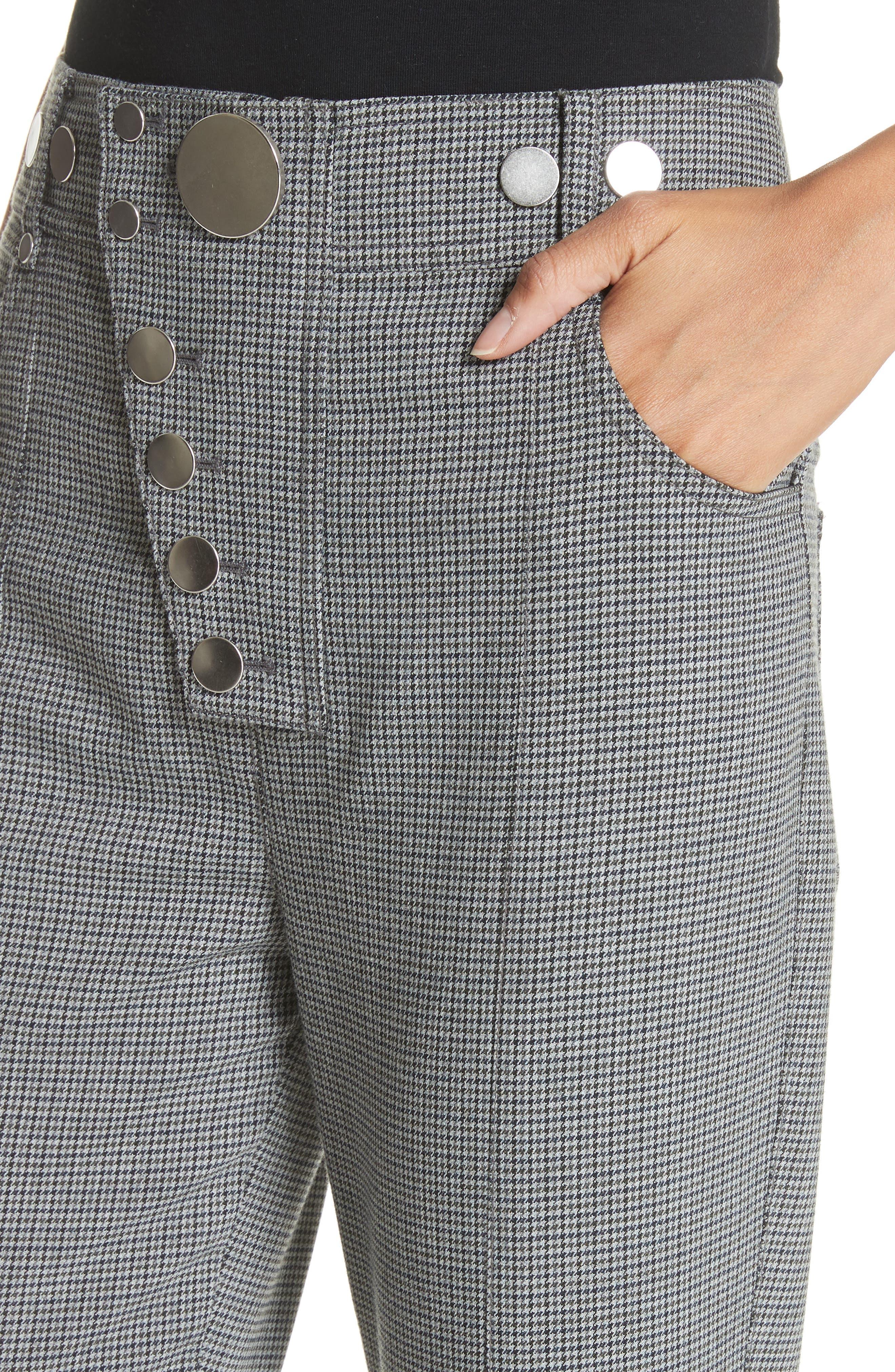 ALEXANDER WANG,                             Skinny Plaid Pants,                             Alternate thumbnail 4, color,                             020