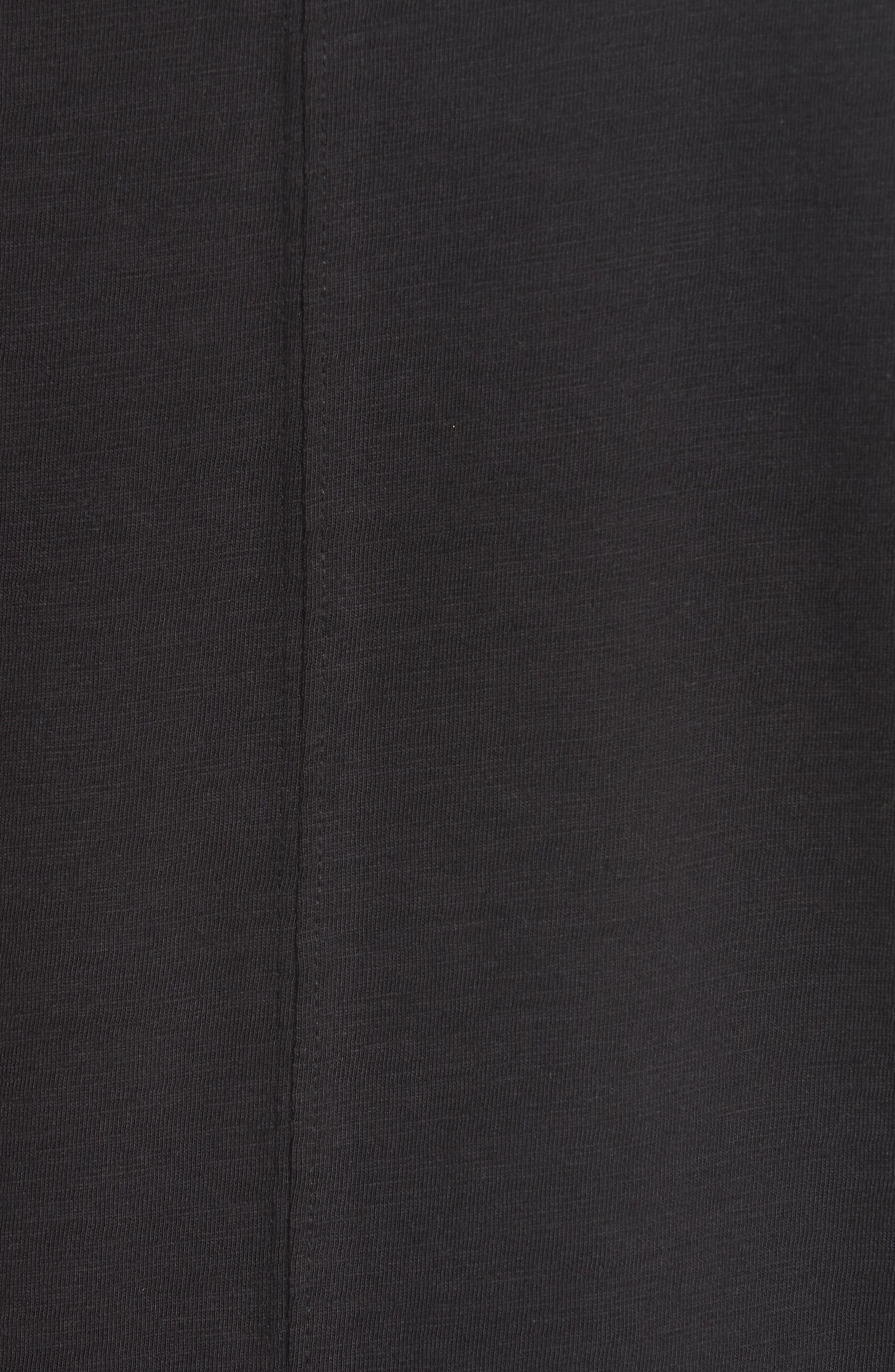 Panic Reversible Graphic T-Shirt,                             Alternate thumbnail 6, color,                             BLACK