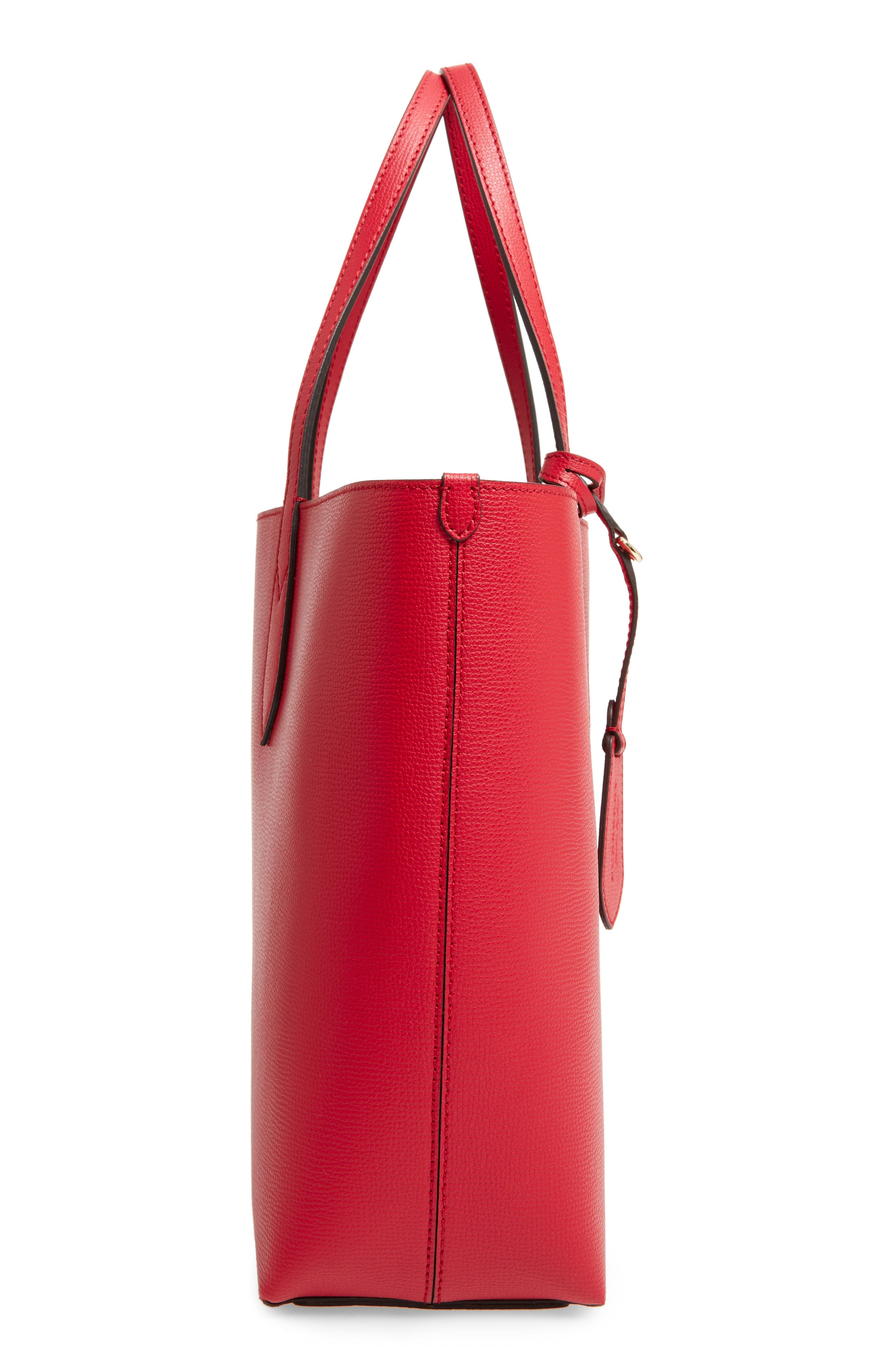 Reversible Leather Tote,                             Alternate thumbnail 5, color,                             613