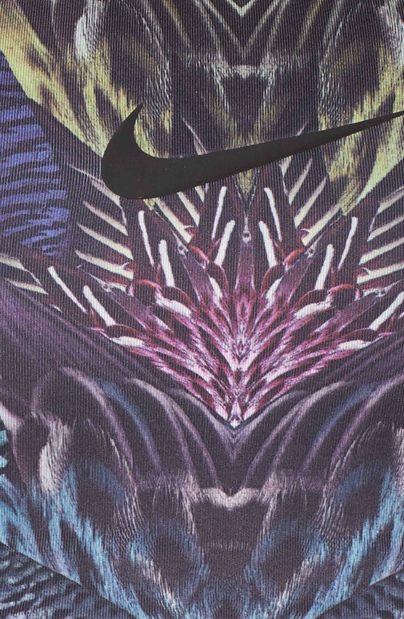 Paradise Swoosh Sports Bra,                             Alternate thumbnail 6, color,                             010