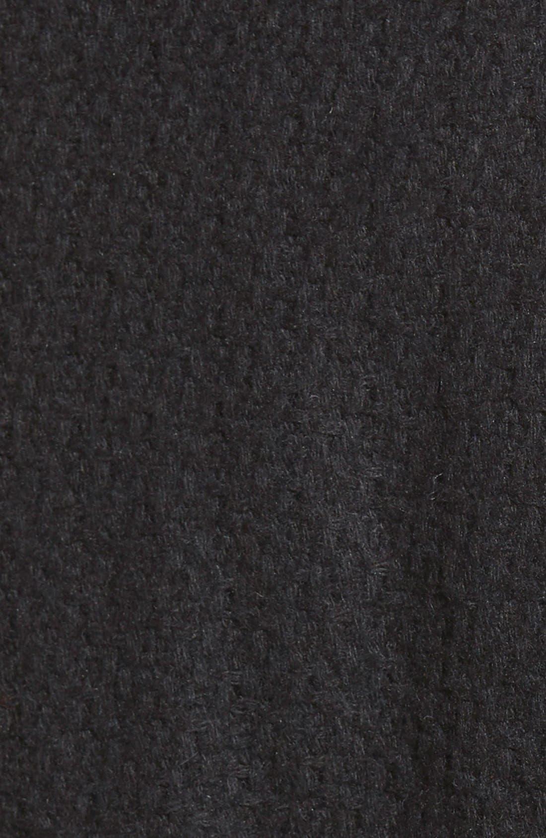 STEVE MADDEN,                             Steven Madden Asymmetrical Zip Skirted Coat,                             Alternate thumbnail 5, color,                             001