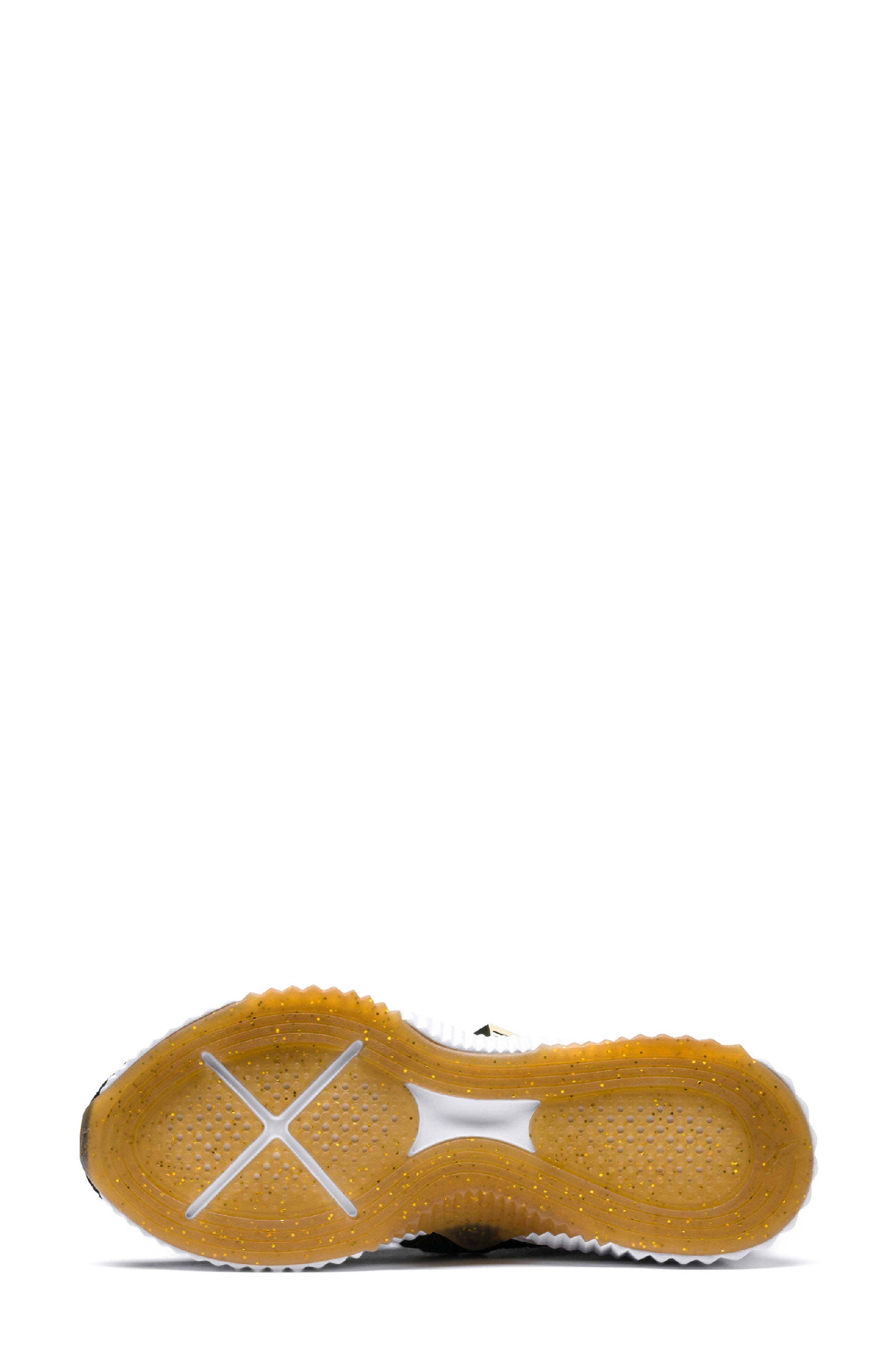 Defy Mid Varsity Sneaker,                             Alternate thumbnail 5, color,                             PUMA BLACK/ METALLIC GOLD