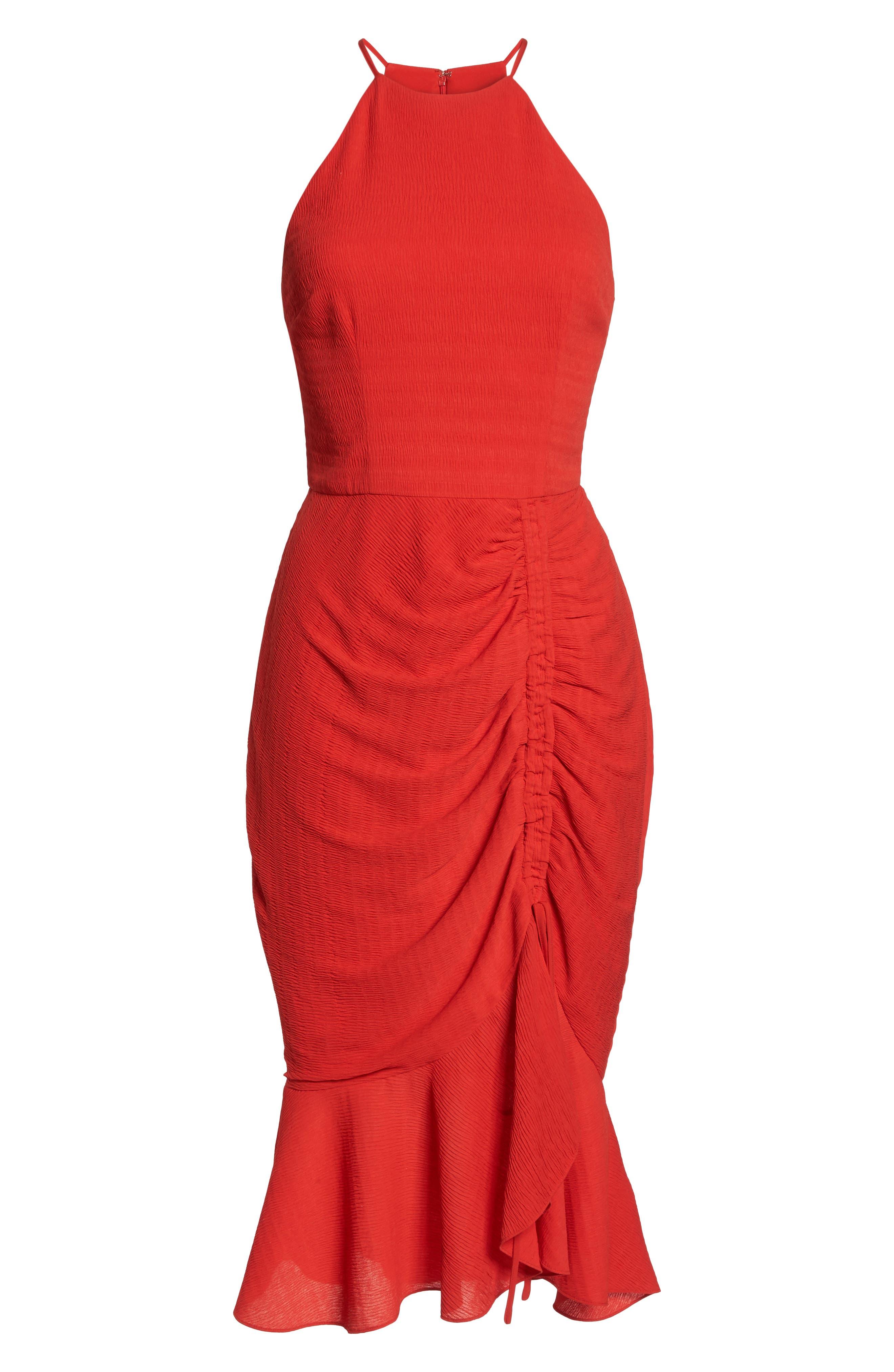 Ti Amo Ruched Halter Dress,                             Alternate thumbnail 7, color,                             620