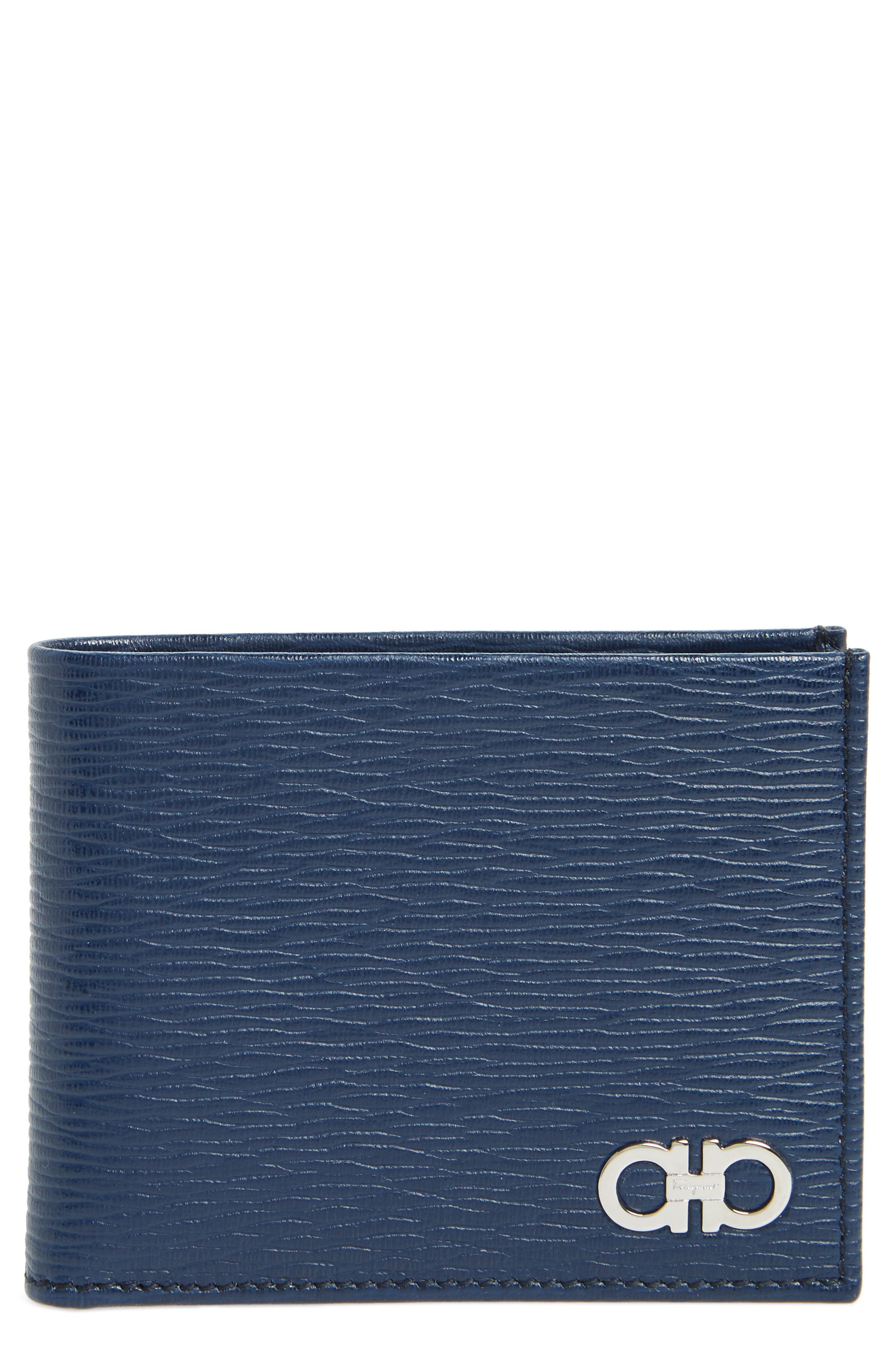 Revival Bifold Leather Wallet,                             Main thumbnail 1, color,                             BLUE